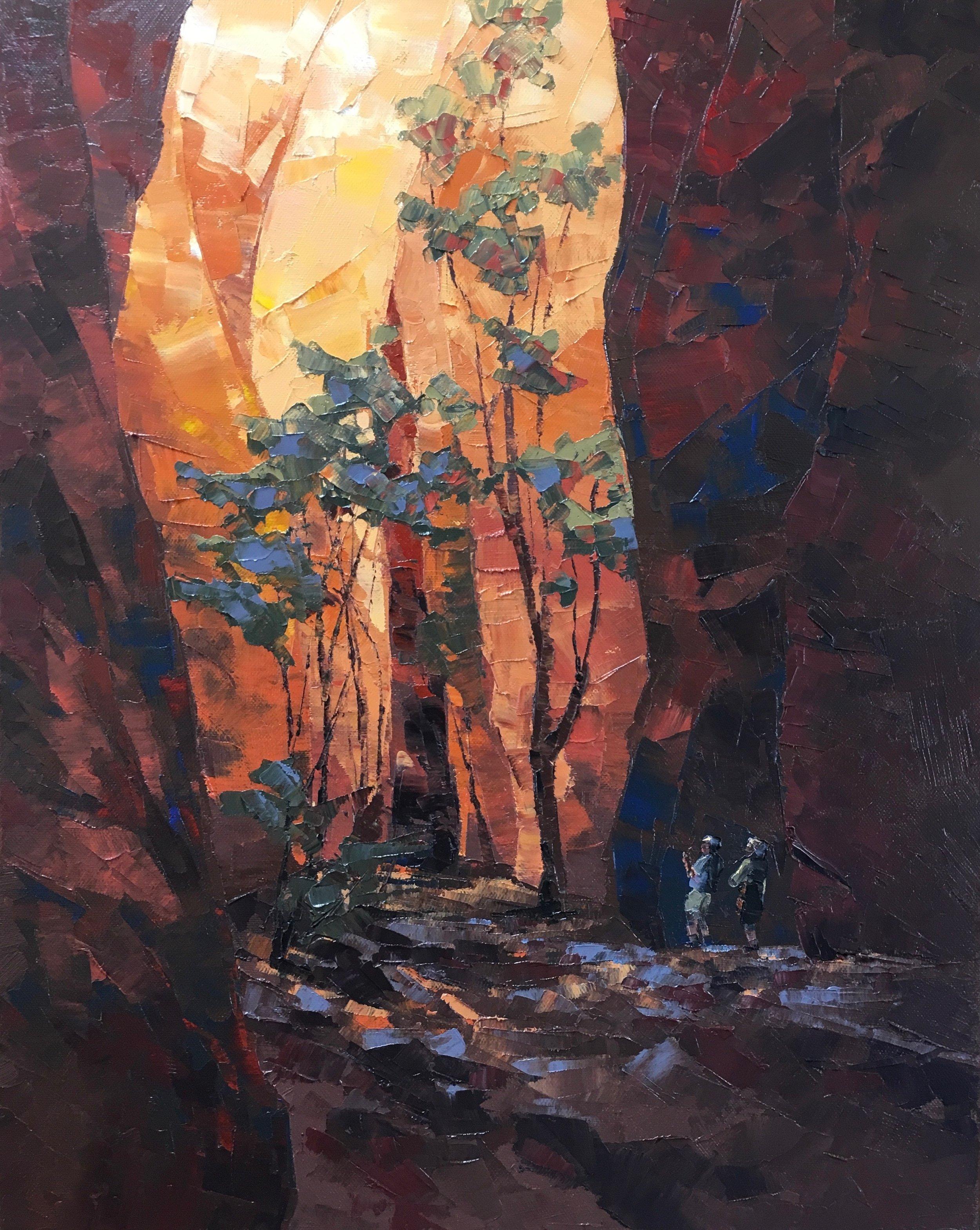 Echidna Chasm, Oil, 41 x 51cm,  $600
