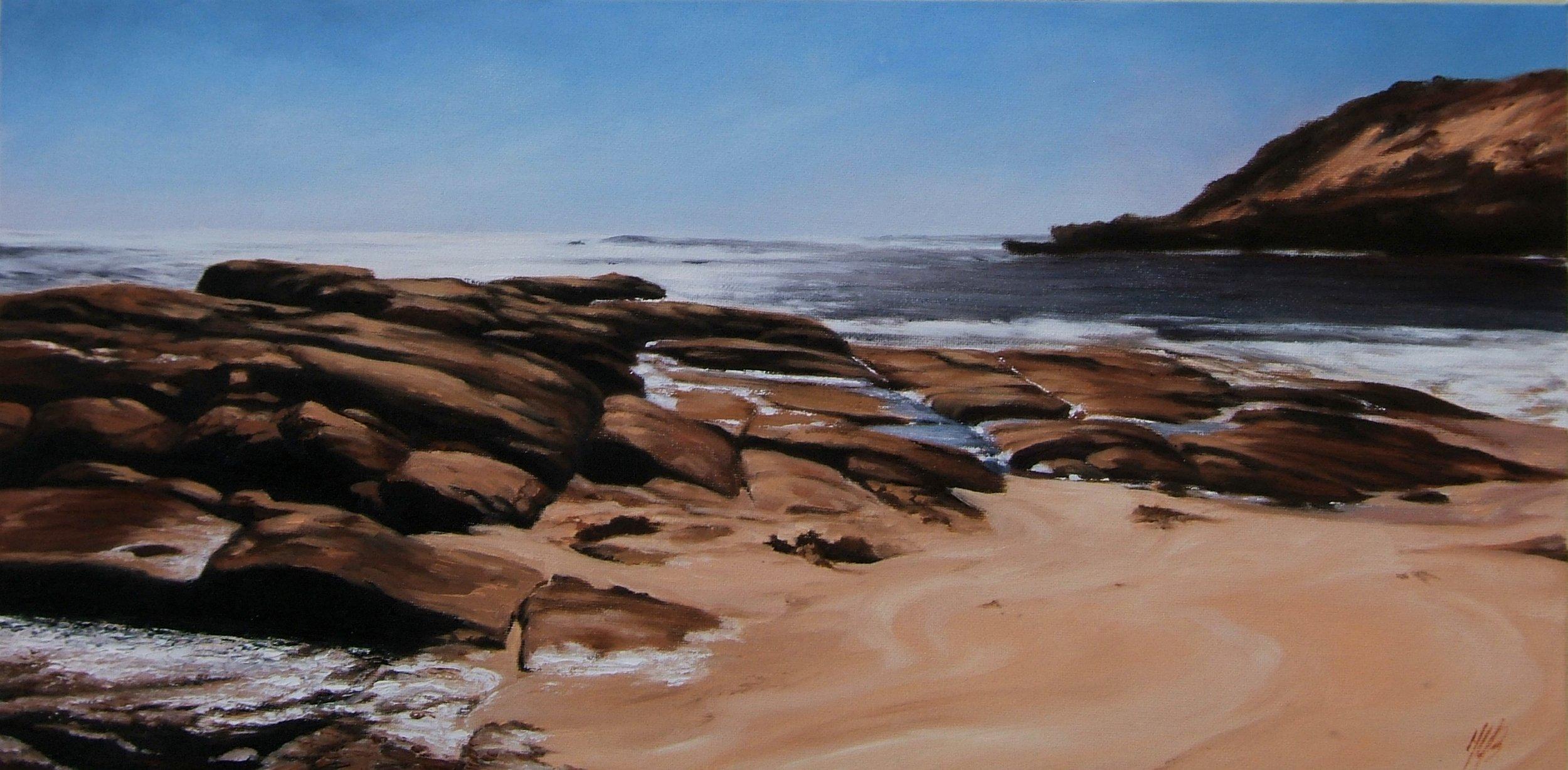 Prevelly Beach (Margaret River), Oil, Framed, 71 x 41cm,  $750