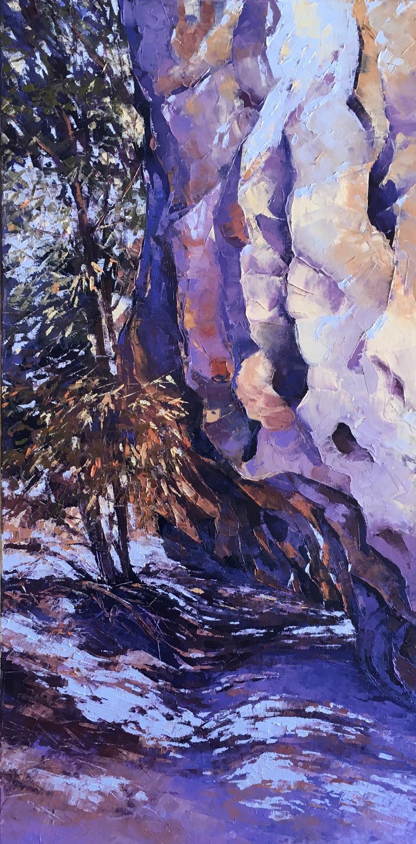 Windjana Gorge Walk, Oil, 30 x 61cm,  $600