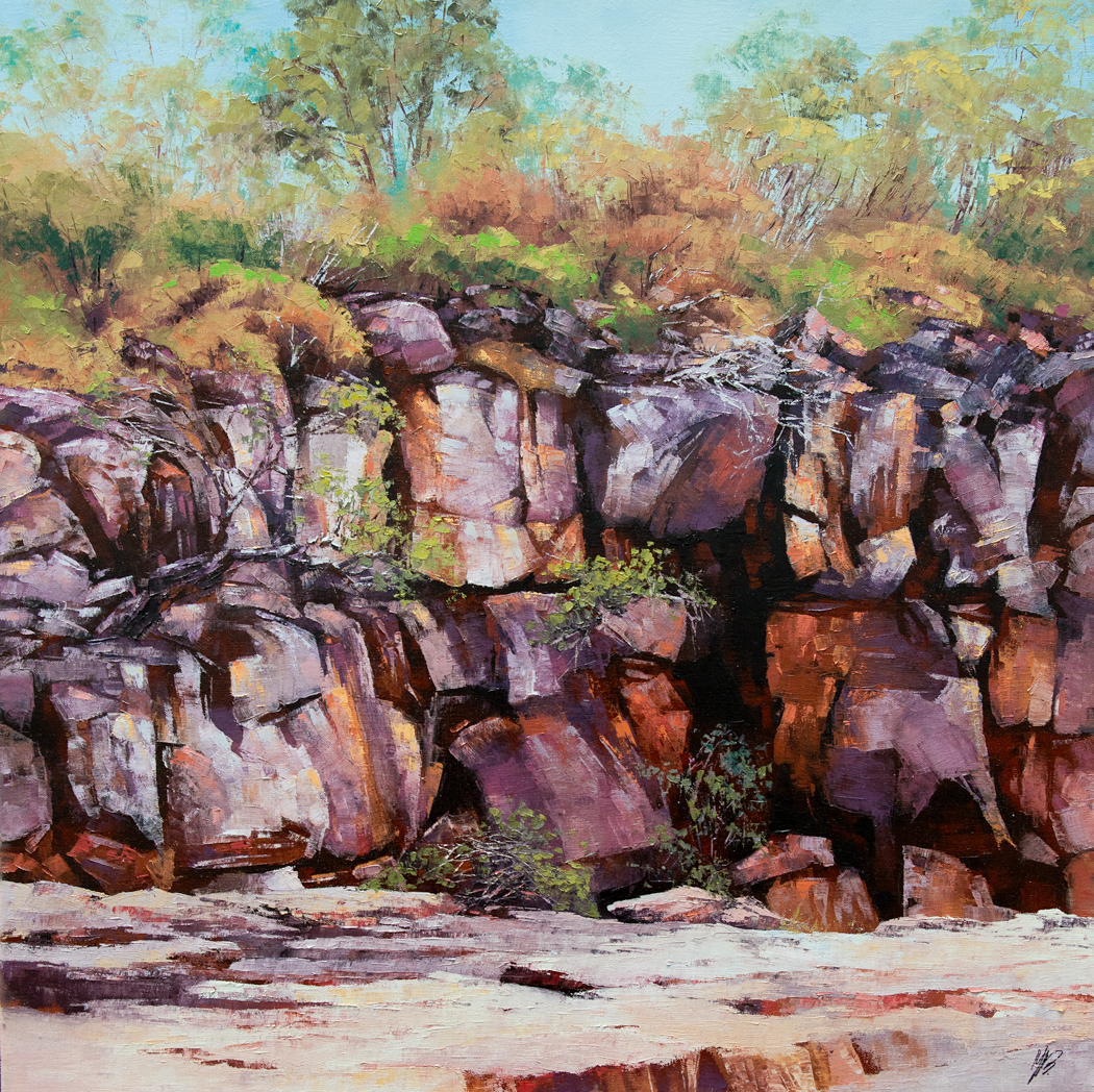 Punamii-Unpuu Walk Trail II, Oil, 61 x 61cm,  $1,500