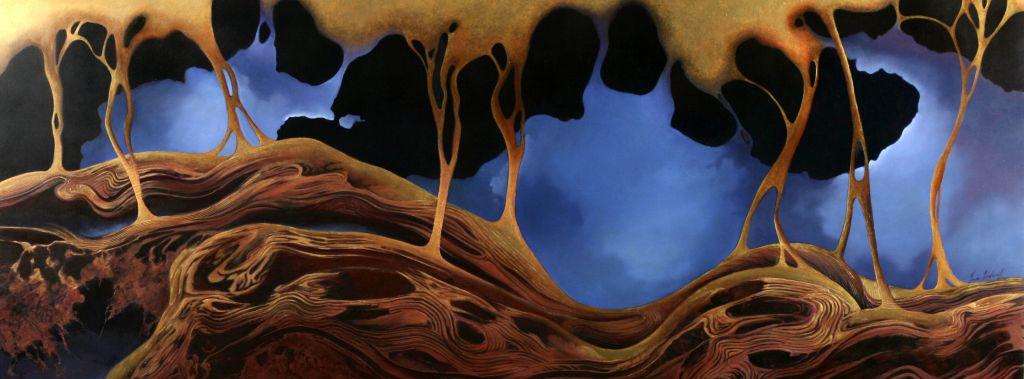 Metamorphosis, Oil, 120 x 50cm,  SOLD