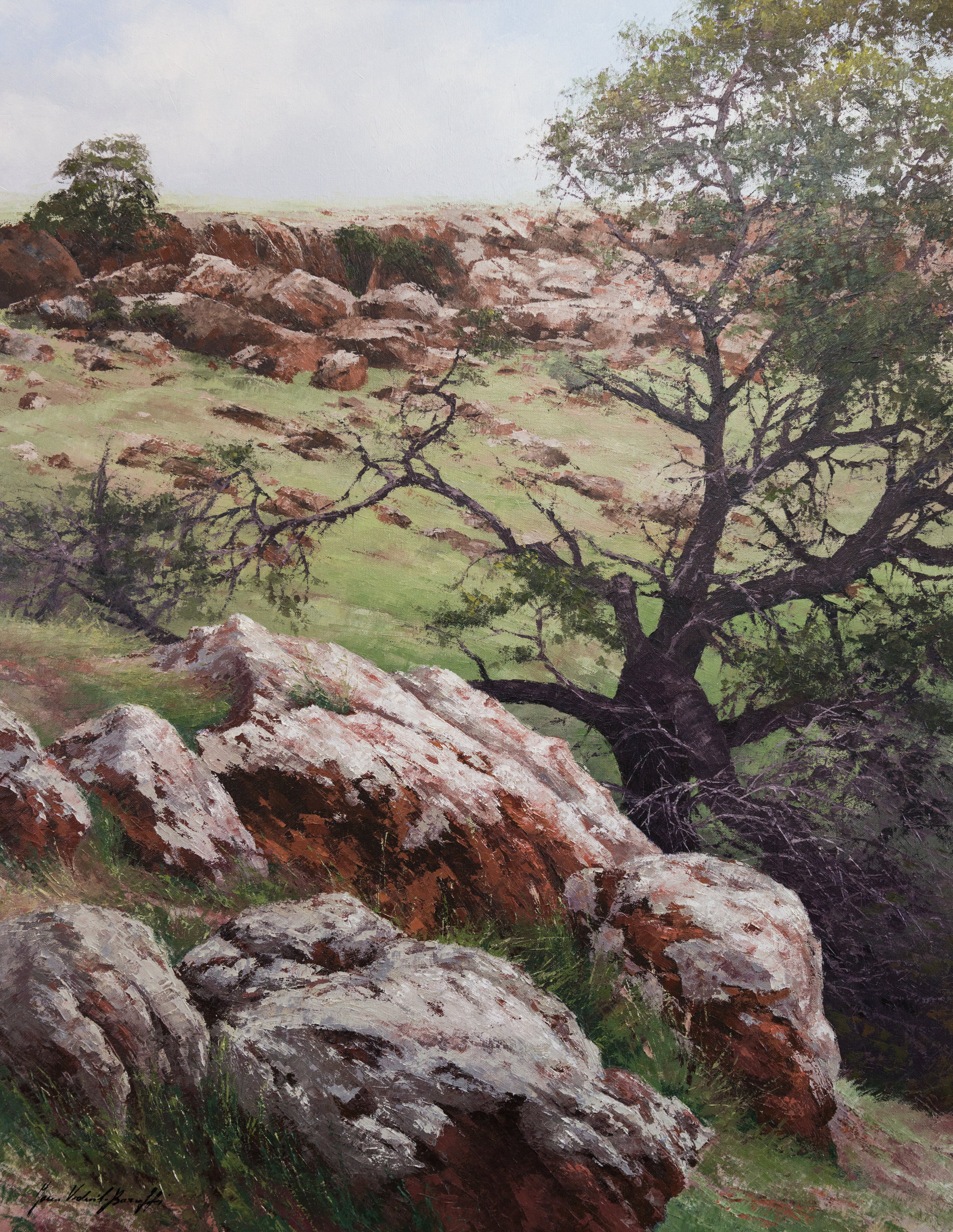 Moresby Ranges, Oil, 96 x 102cm,  SOLD