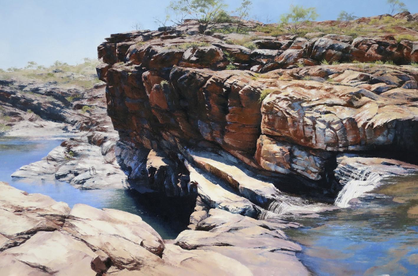 Bell Gorge (Kimberley), Oil on Canvas, Framed, 91x61cm, $4,900.jpg