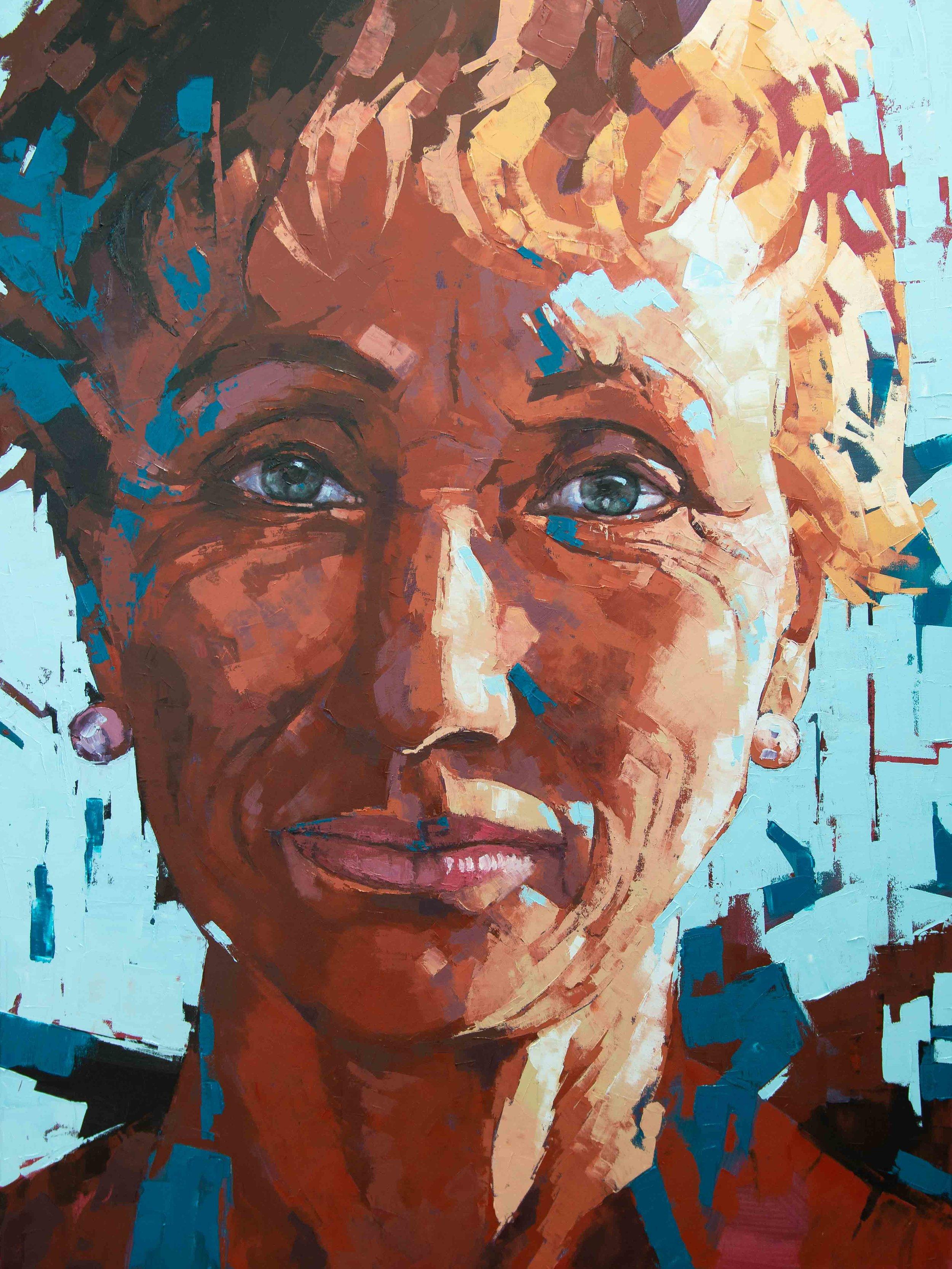 Jana (Self Portrait), Oil, 76 x 101cm,  $6,500