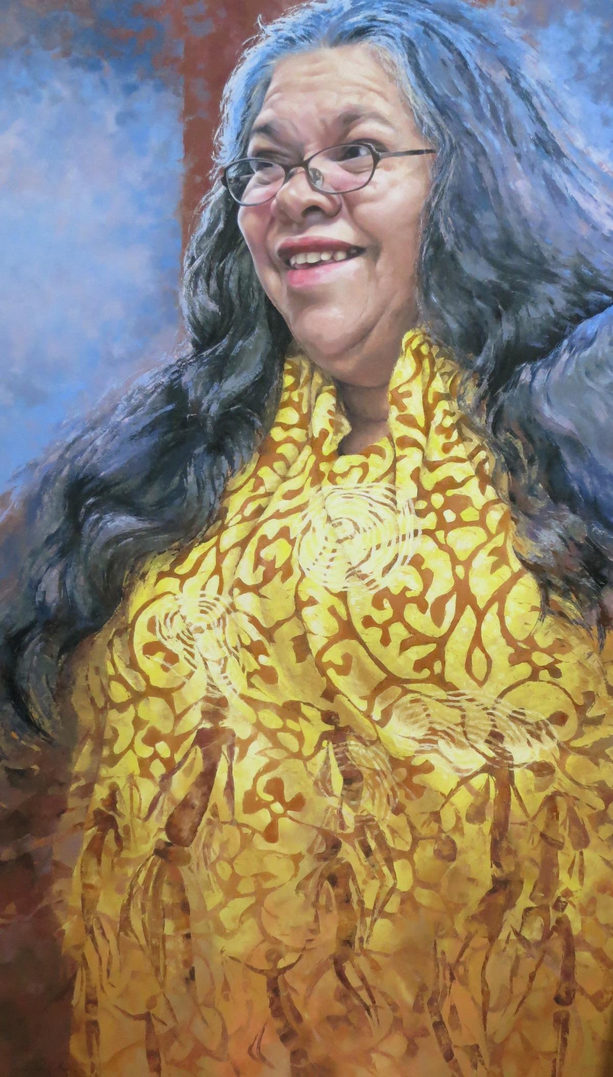 Bigger Than Life (Carol Martin), Oil, 205 x 120cm,  $8,000