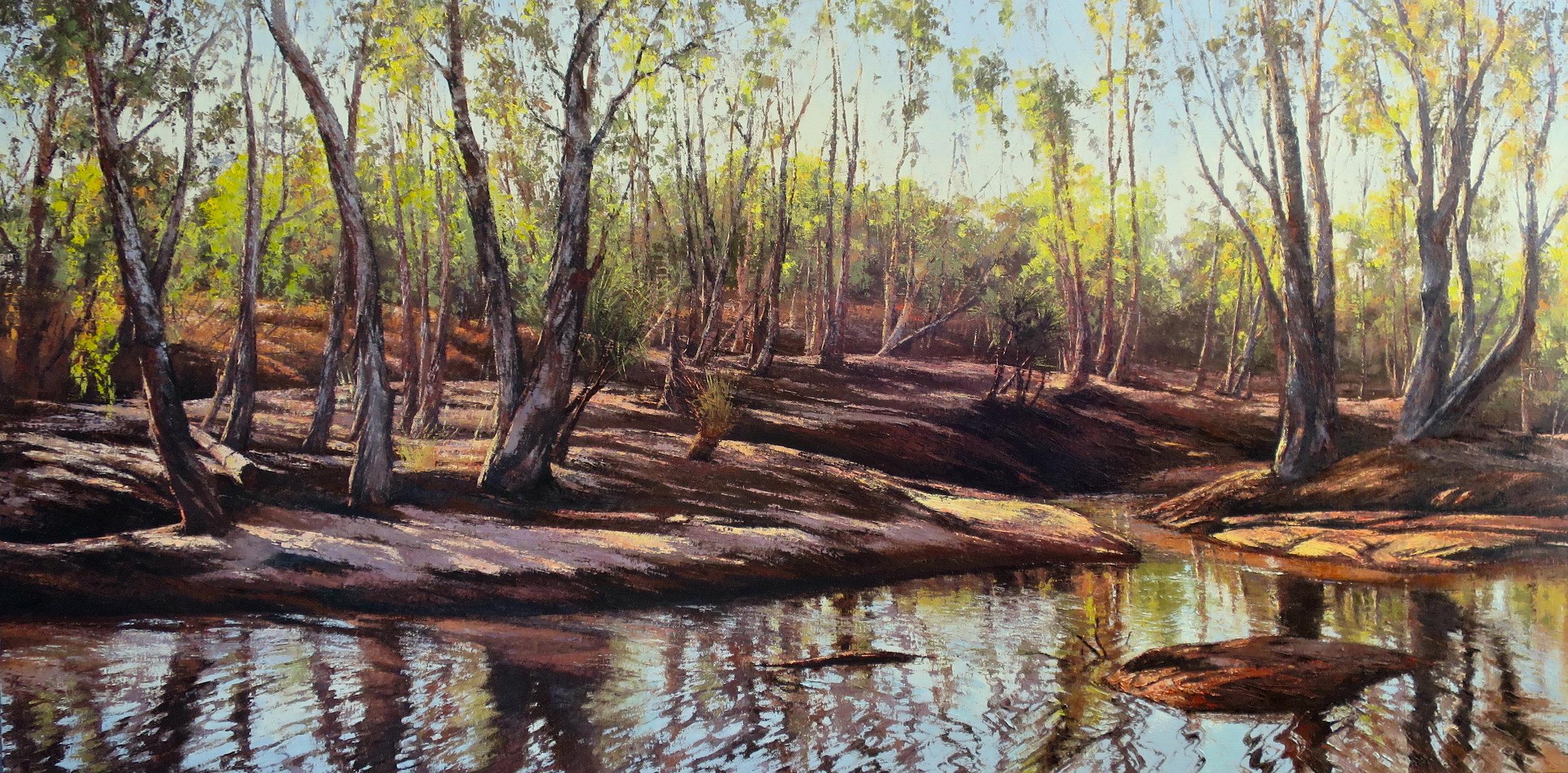 River Crossing (Kimberley), Oil, 122 x 61cm,  $4,800