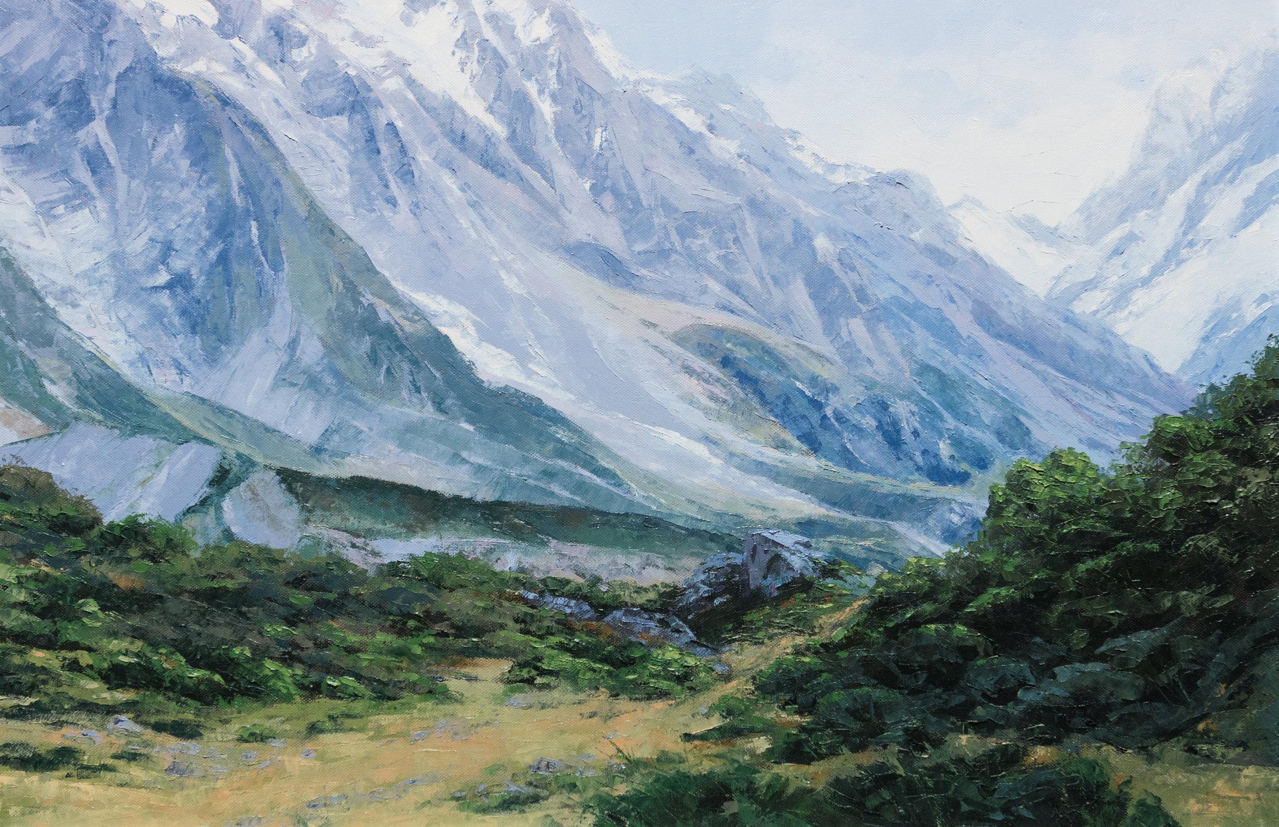 Mount Cook II, Oil, Framed, 95 x 70cm,  SOLD