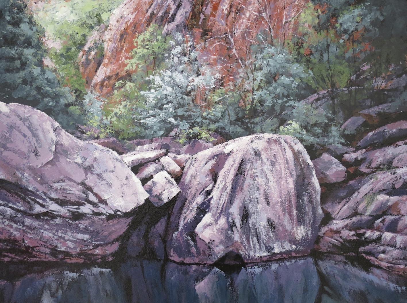 Emma Gorge, Oil, 72 x 56cm,  SOLD