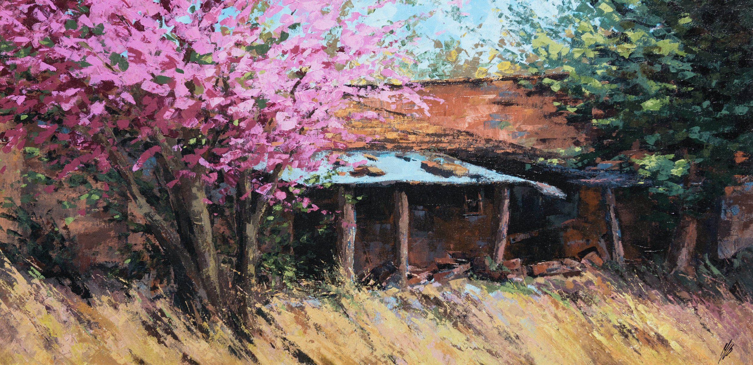 Old Shed, Acrylic,  SOLD