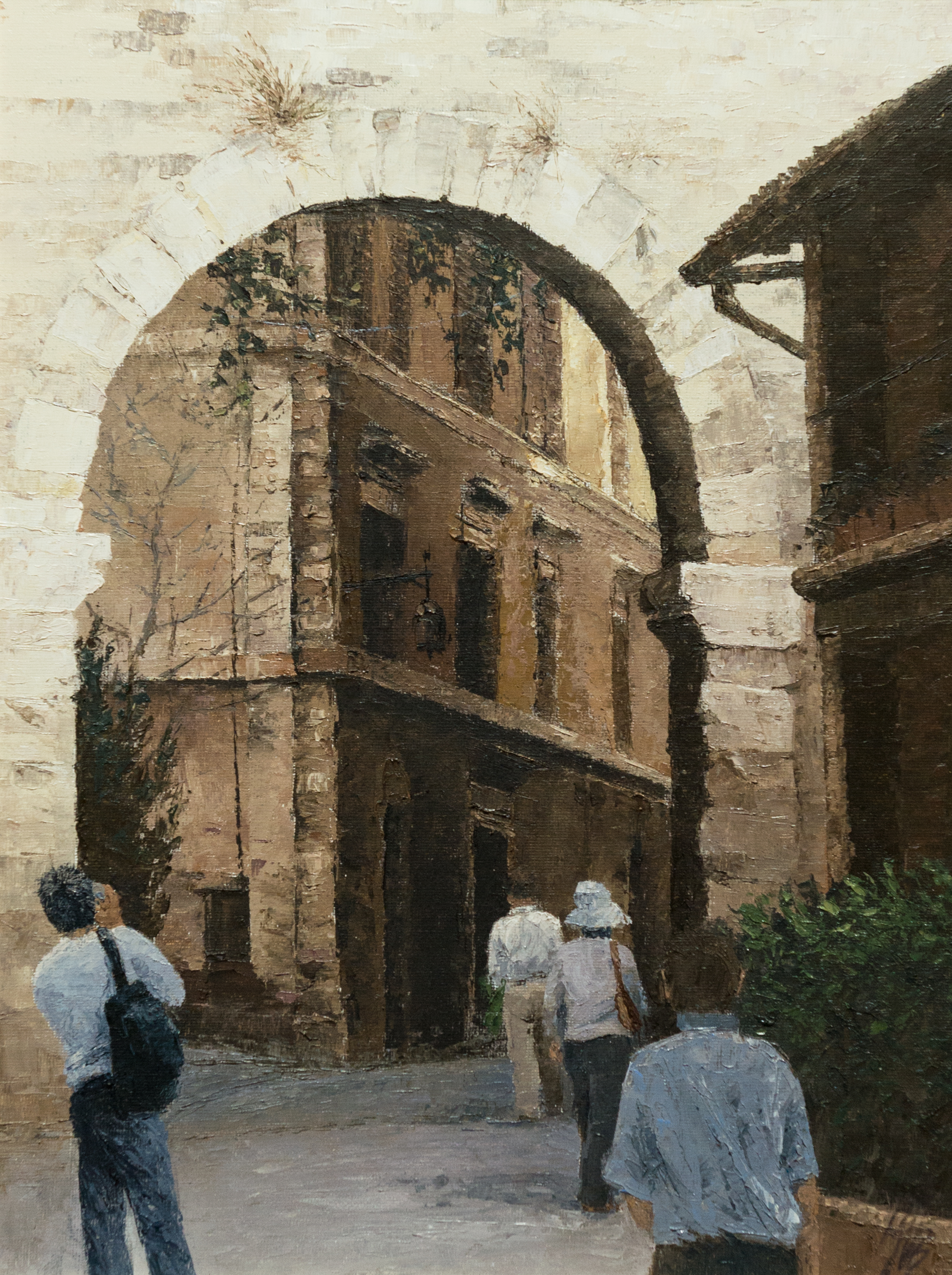 Gate To Tuscan Town, Oil, 55 x 72cm,  SOLD