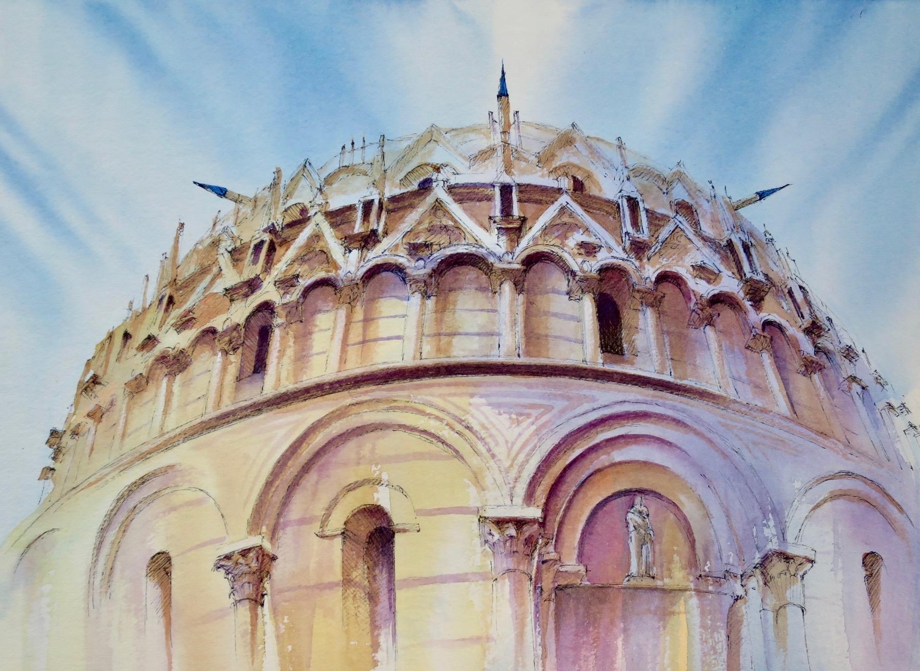 Pisa, Watercolour,  SOLD