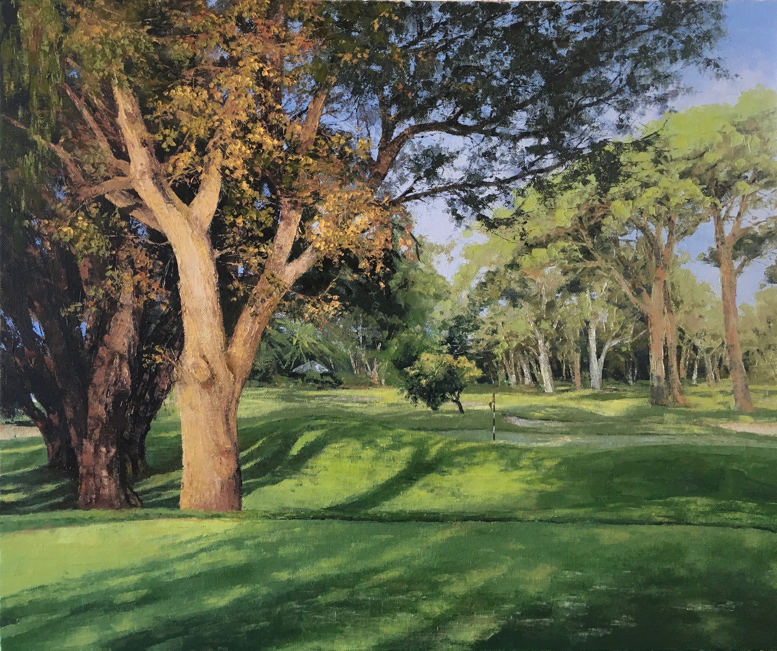 Royal Perth Golf Club I, Oil,  SOLD