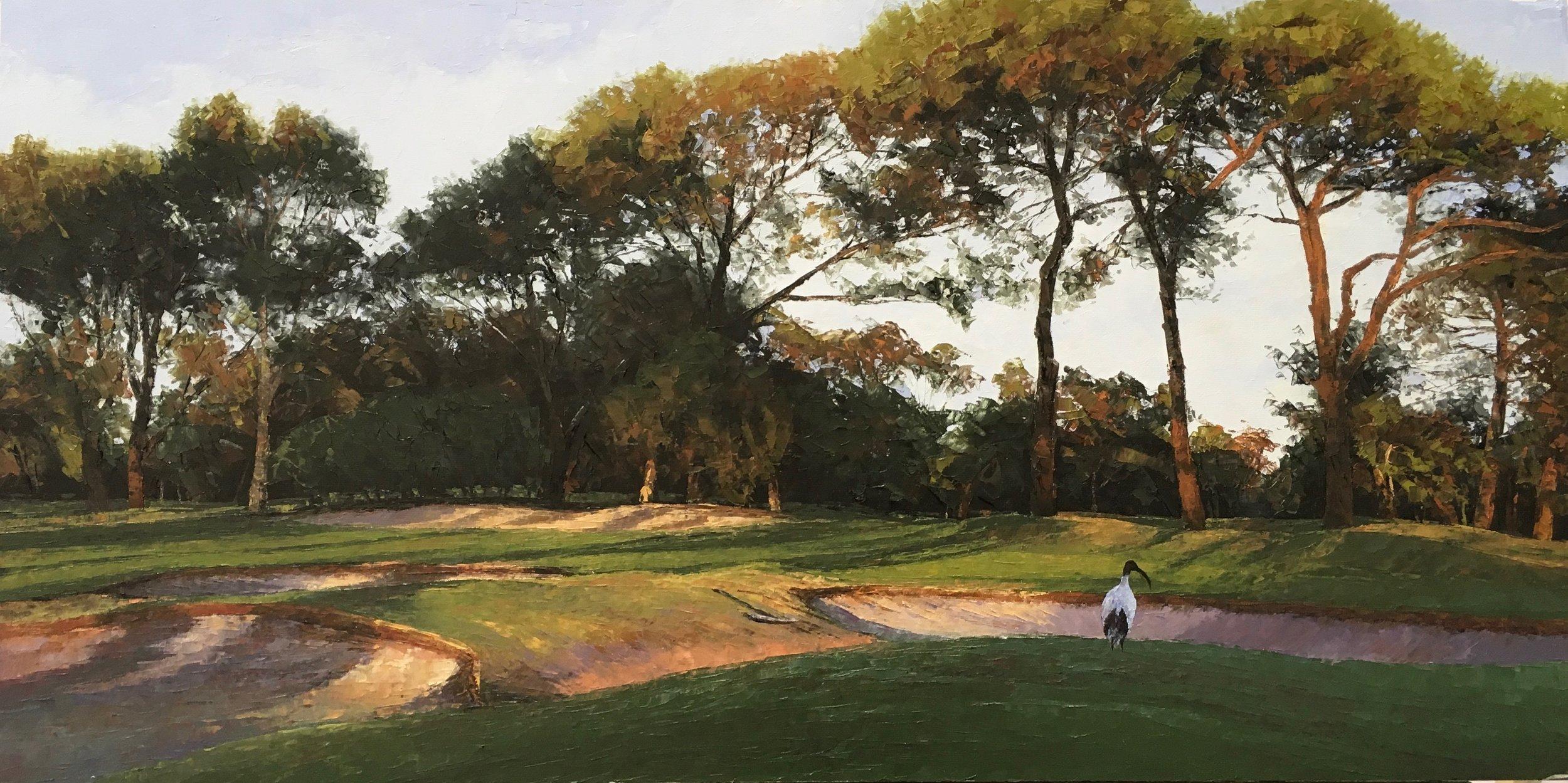 Royal Perth Golf Club II, Oil,  SOLD