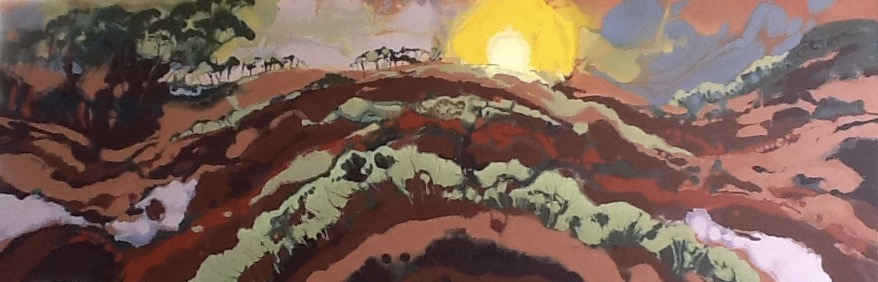 Tuscan Sunset, Oil, 180 x 60cm,  SOLD