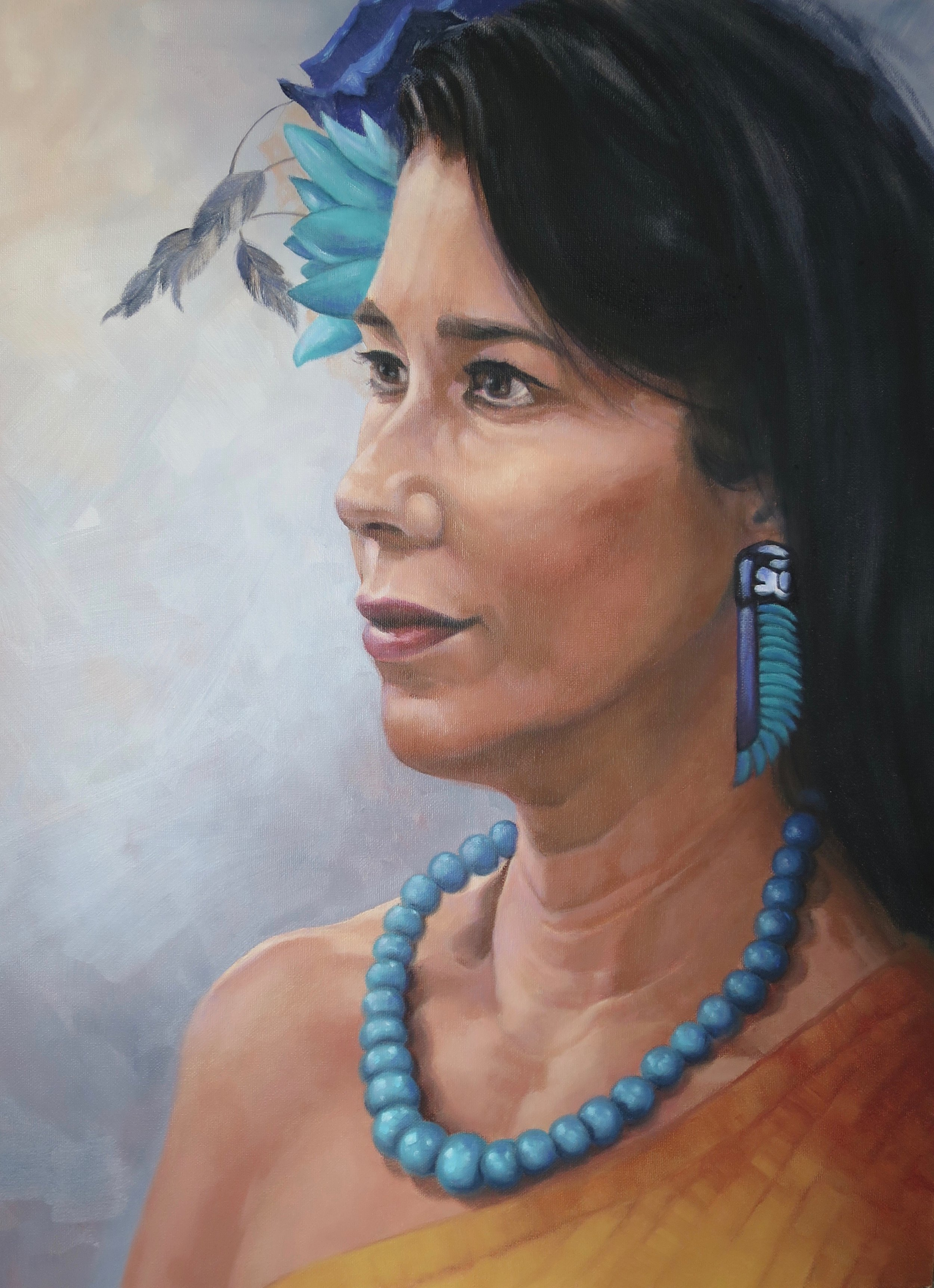 Jane, Oil, 46 x 60cm,  $500