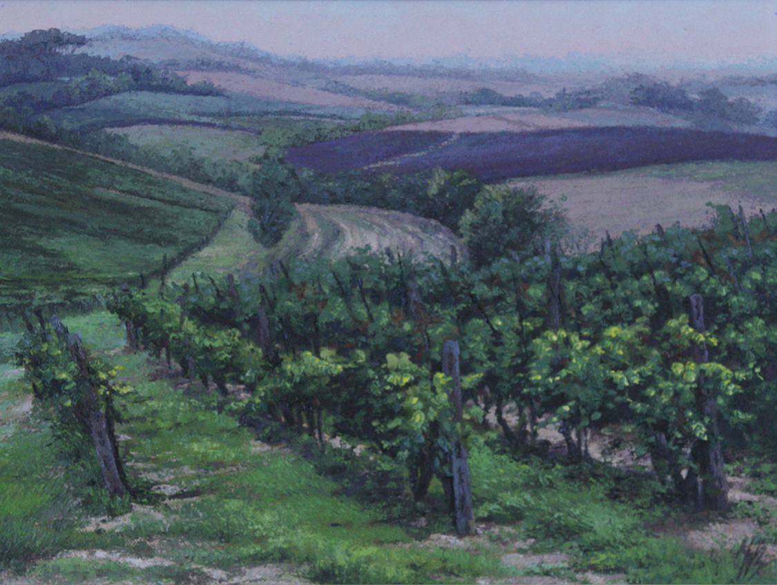 Vineyards of Tuscany II, Oil, 78 x 45cm,  SOLD