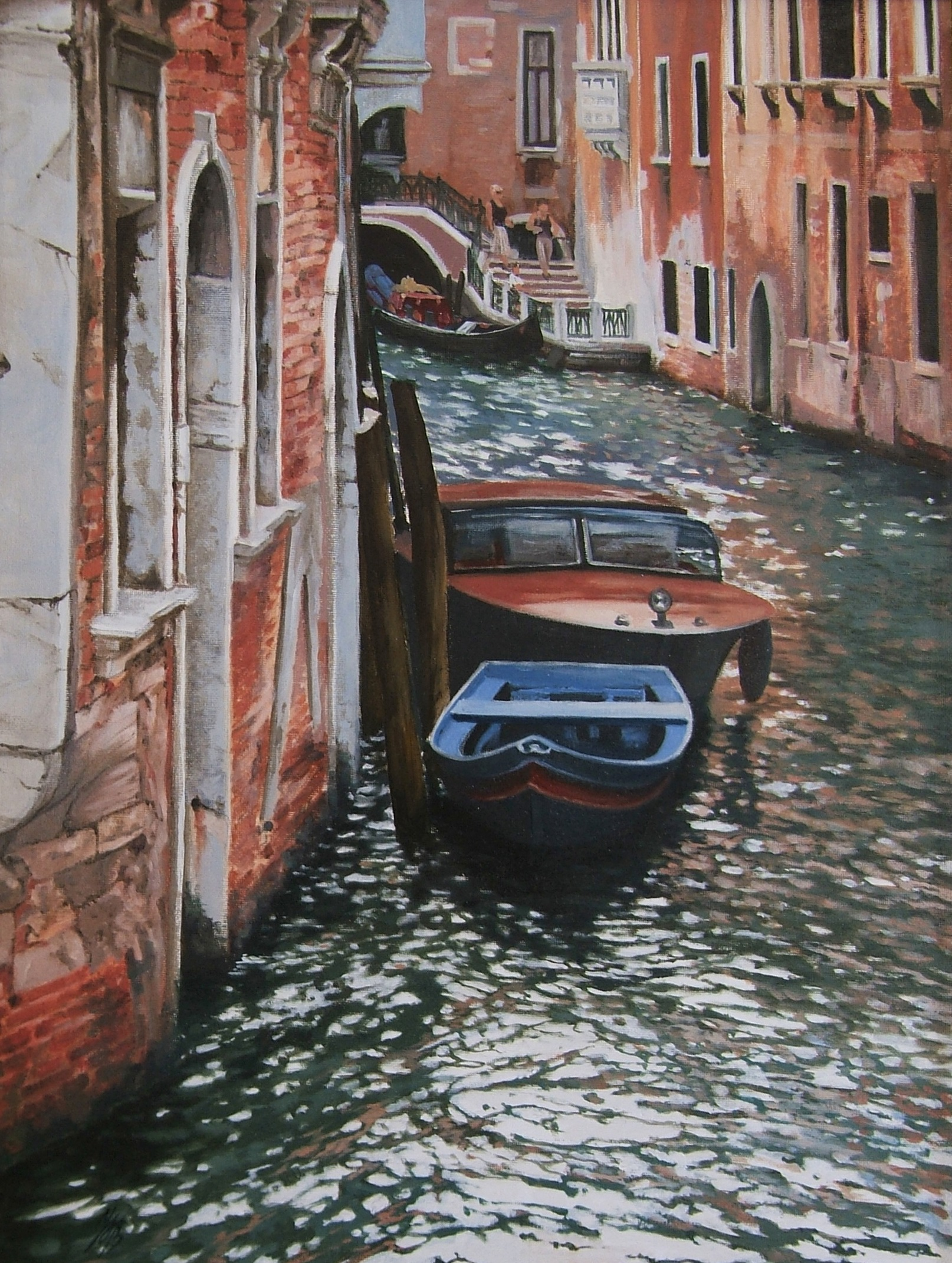 Canals of Venice, Oil, 55 x 72cm,  SOLD