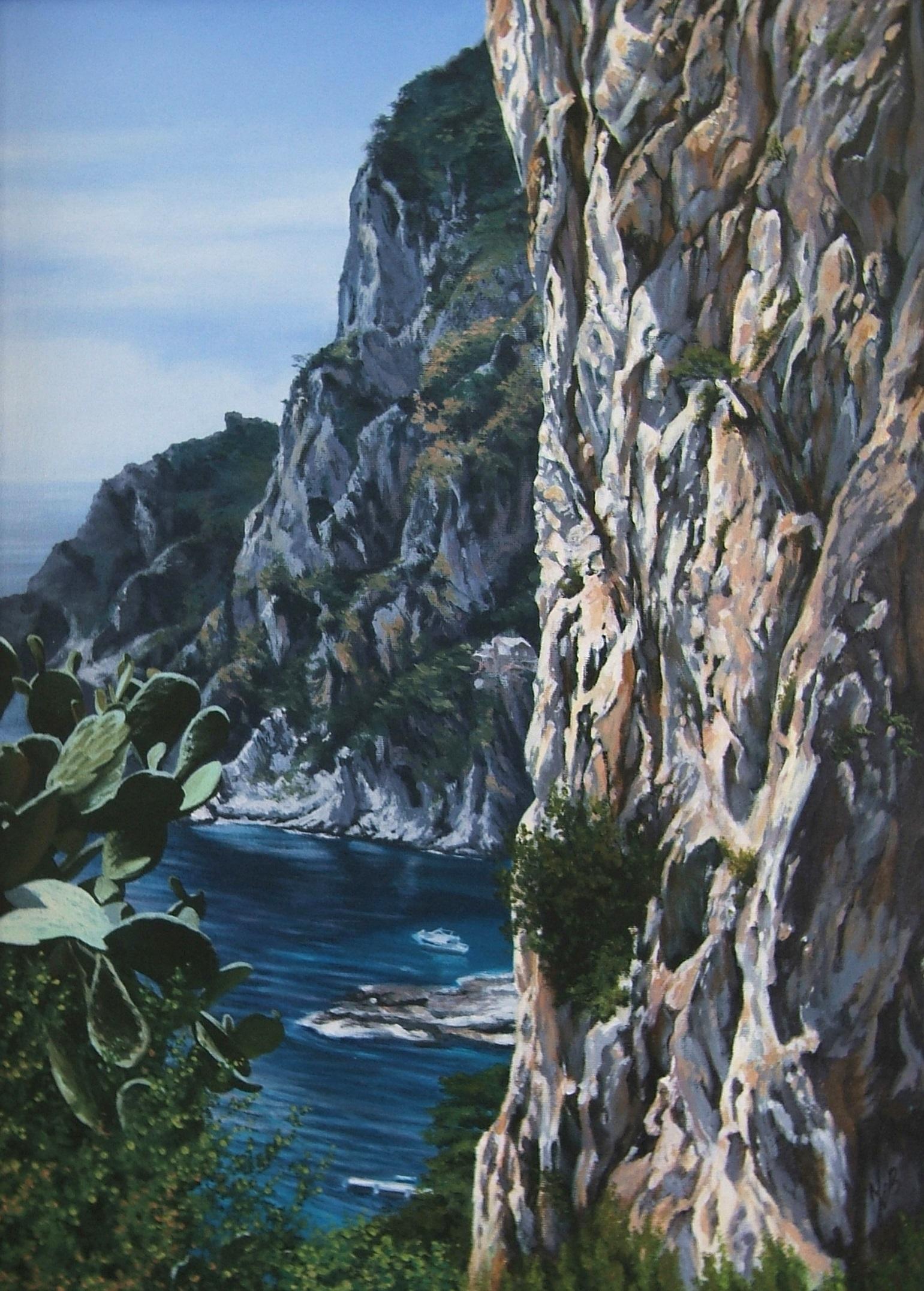 Capri, Oil, 55 x 72cm,  SOLD