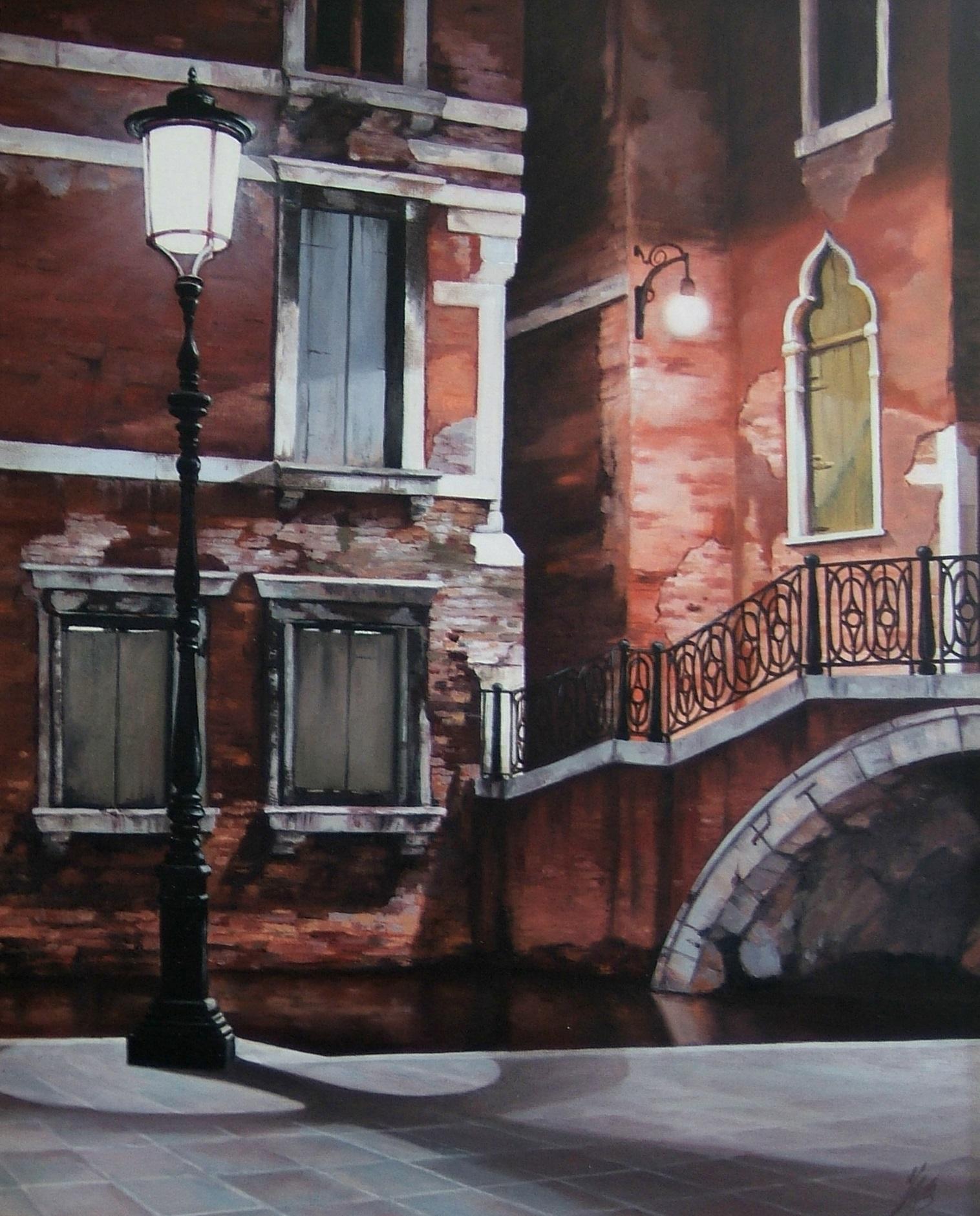 Night In Venice, Oil, 55 x 75cm,  SOLD