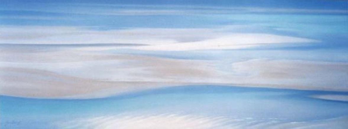 Haven Illusion (Whitsunday), Oil, Framed, 120 x 42cm,  $1,200
