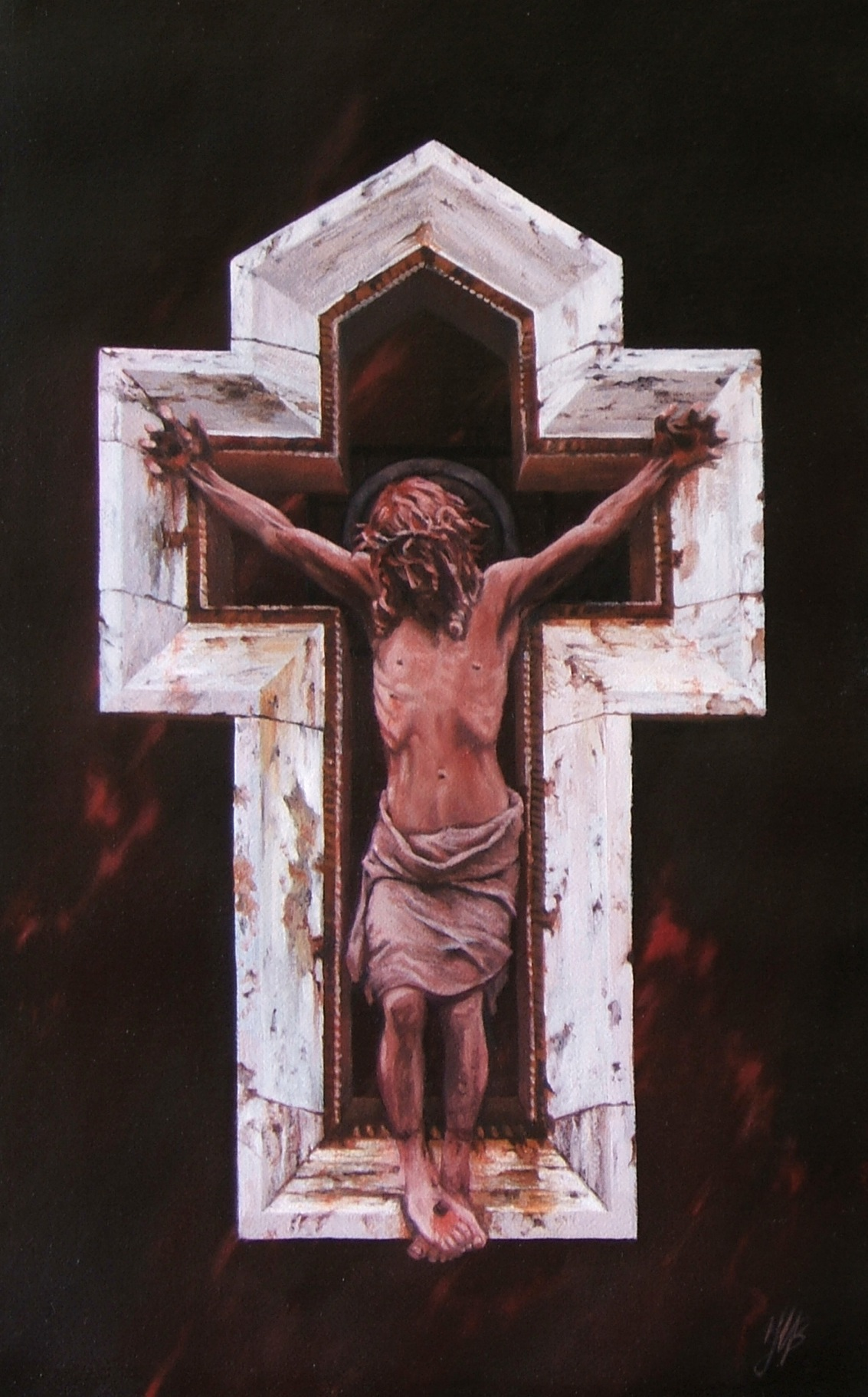 Christ In Agony, Oil, 60 x 40cm,  SOLD
