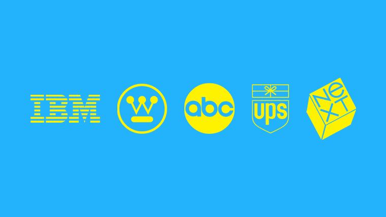 Berühmte Logos von Paul Rand.