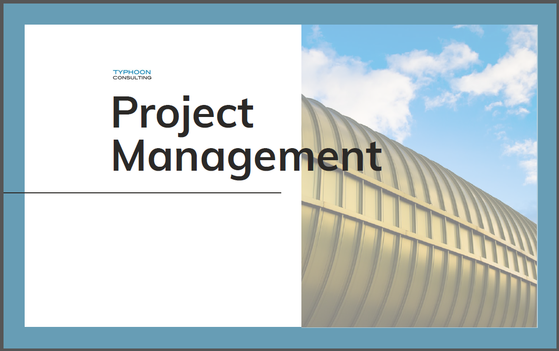 Project Management Report - Want to share this piece? Hit the button below to download now!