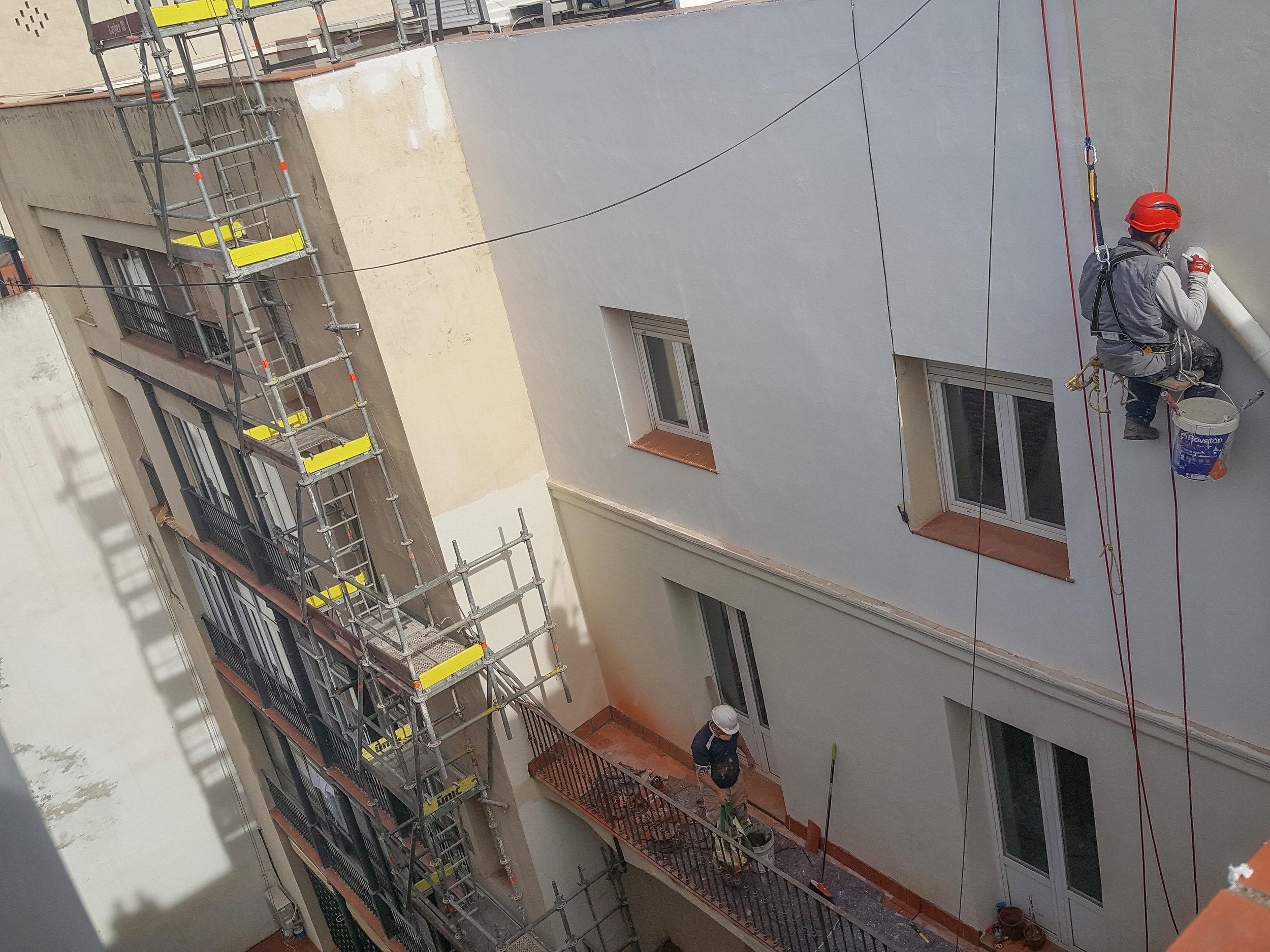Restauración fachada posterior paseo de gracia, 47-49