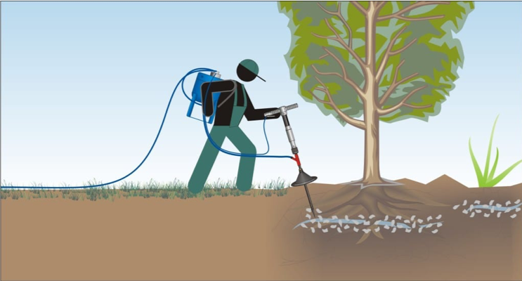 Root Aeriation, Decompaction And Supplement Injection