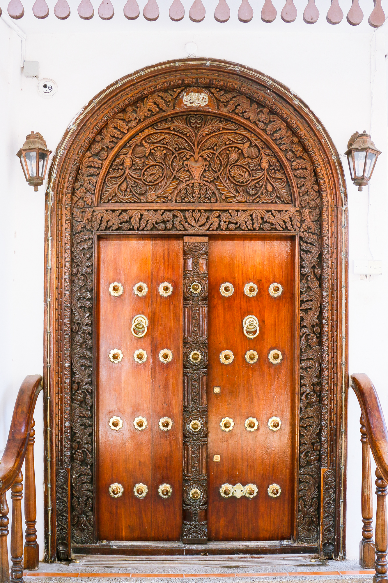 One of the many carved doors Stone Town Zanzibar is known for