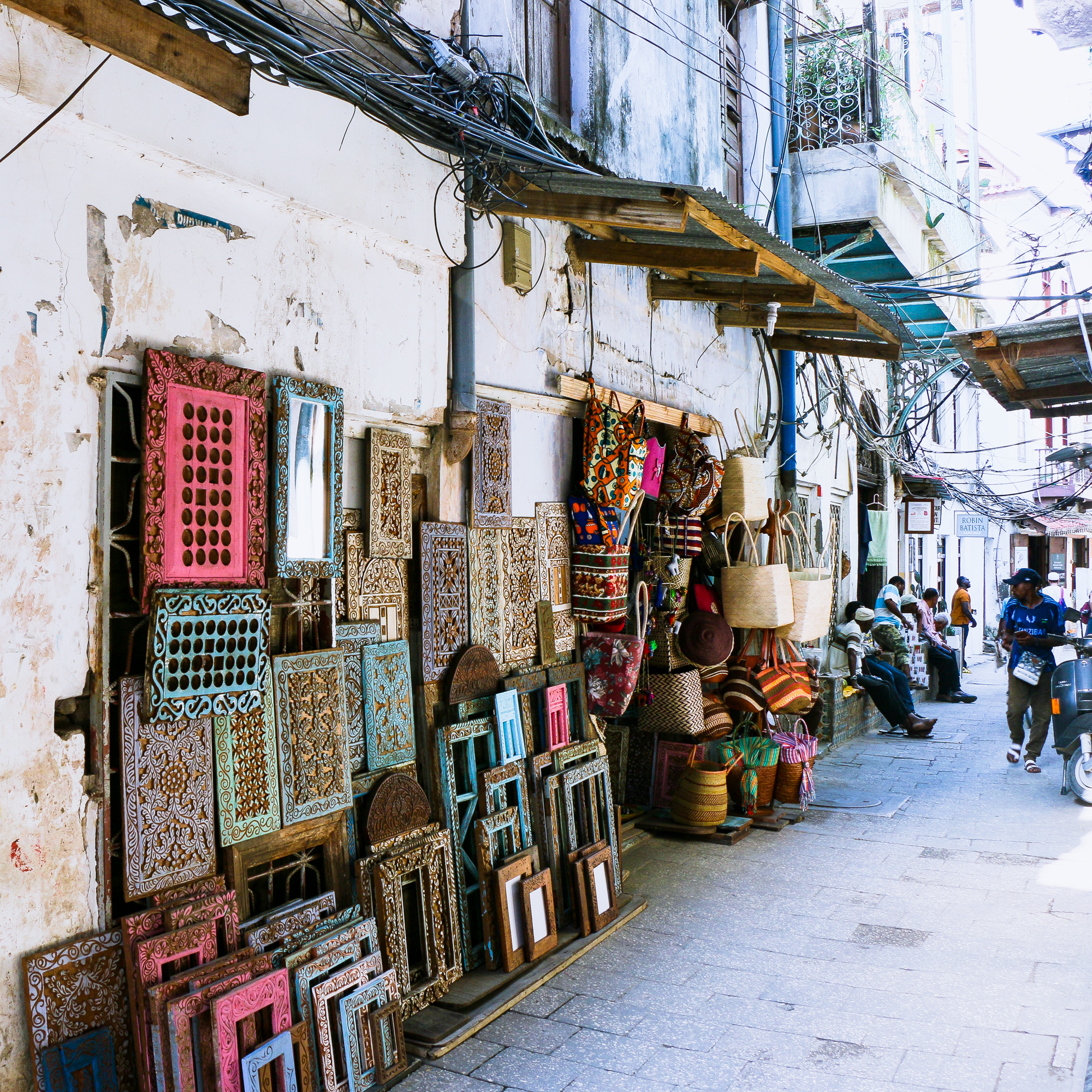 Wood carved frames Stone Town Zanzibar