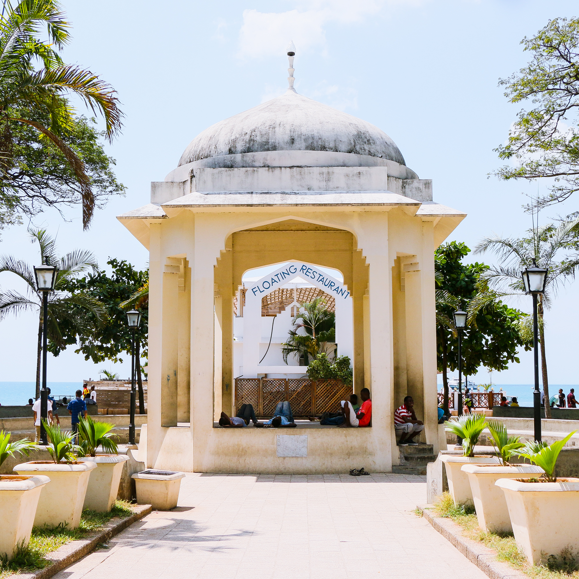 Monument built to commemorate a visit by Princess Margaret. Forodhani Gardens Stone Town Zanzibar