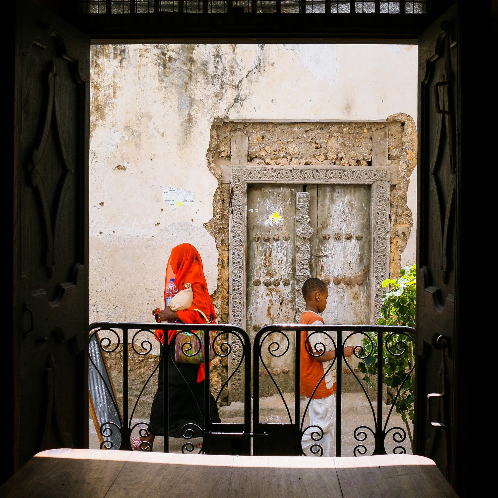 Coffee house with street view Stone Town Zanzibar