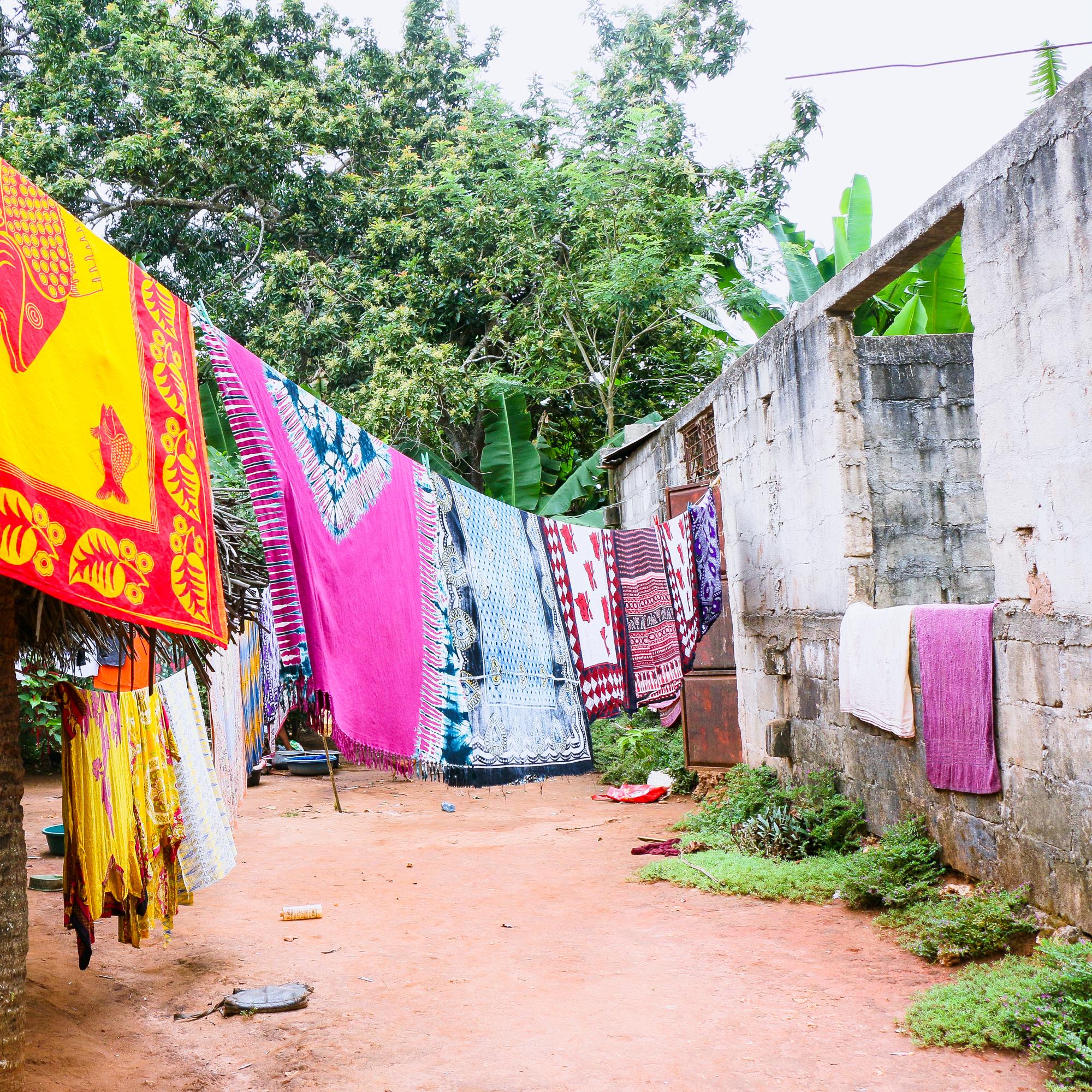 Colourful washing Spice Tour Zanzibar