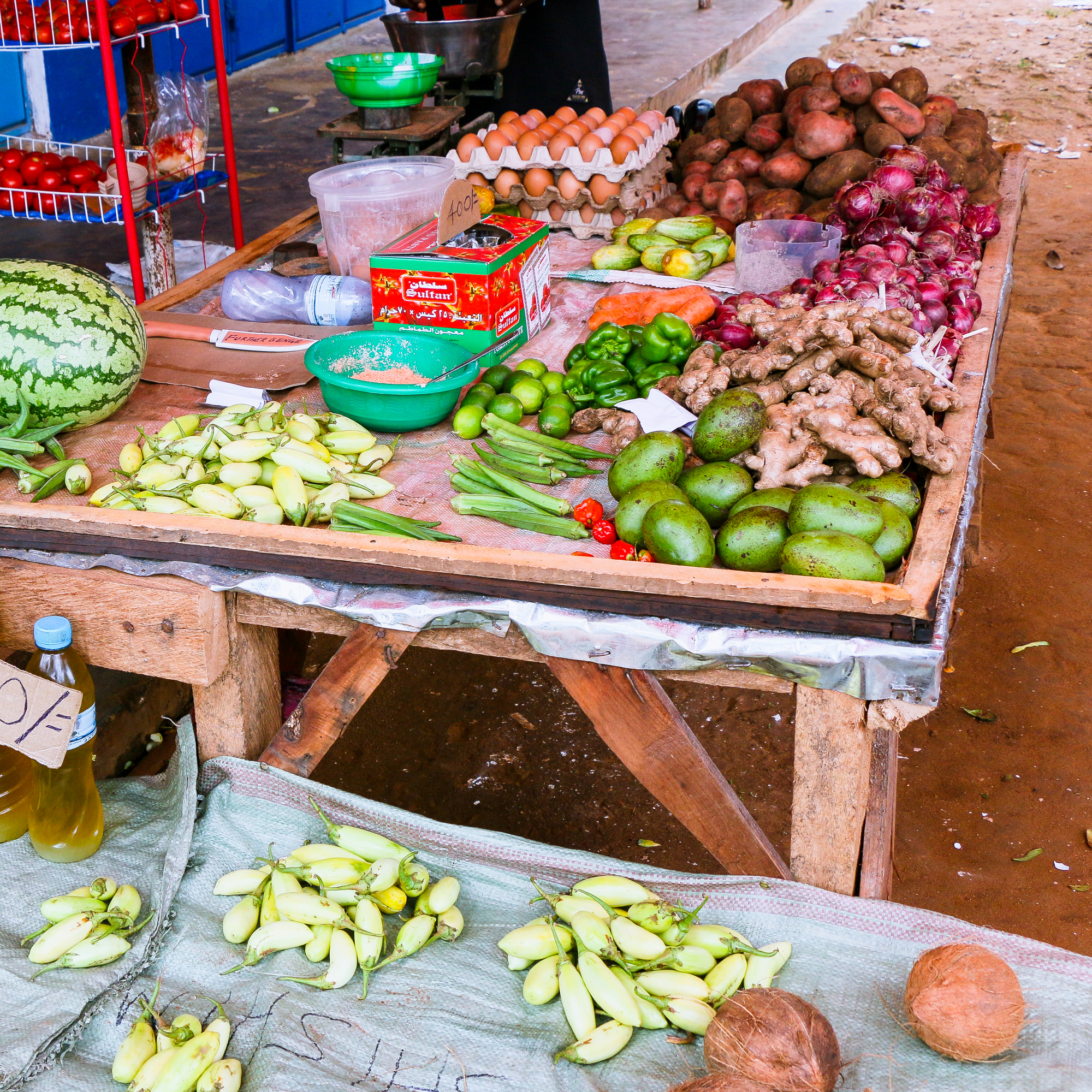 An abundance of fruit and vegetables Spice Tour Zanzibar
