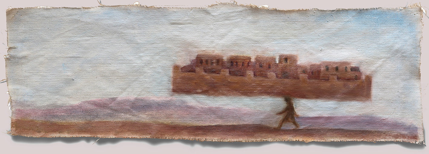 Demenagement  2007 oil on canvas