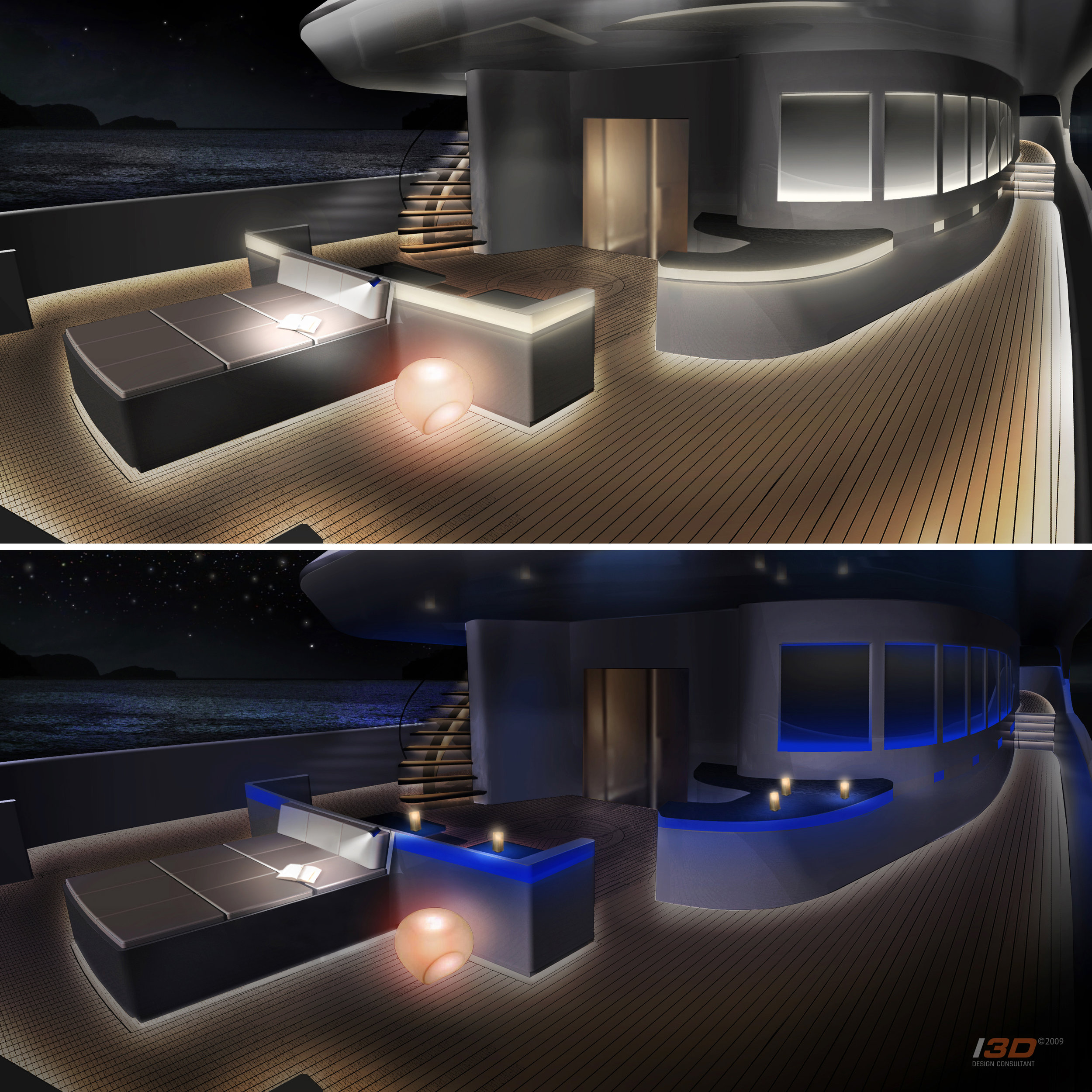 60m Aft Deck Lighting Moods