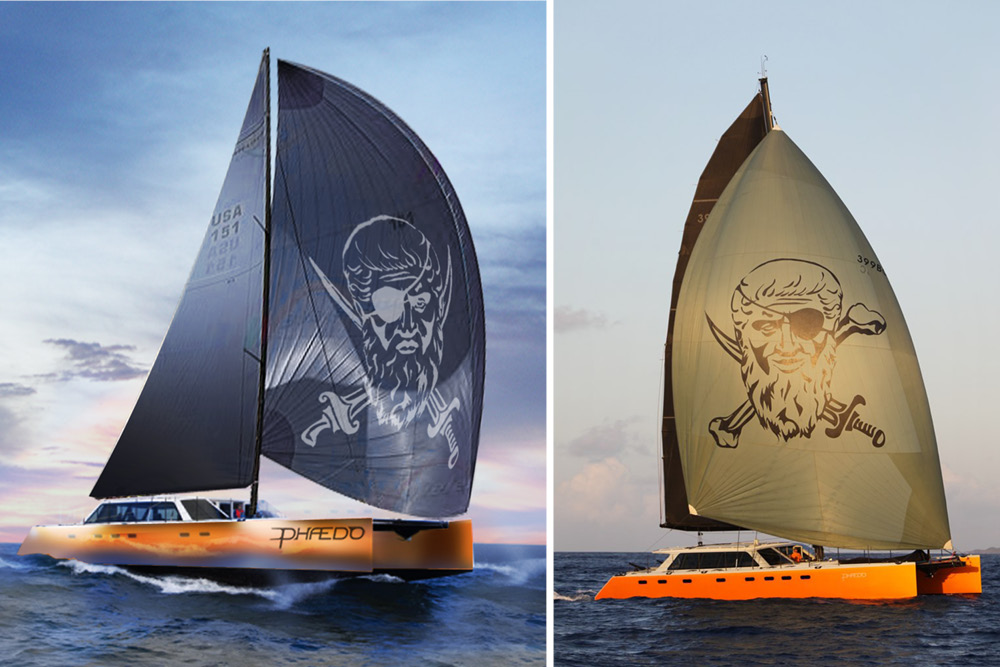 Logo endering and final boat build in comparision