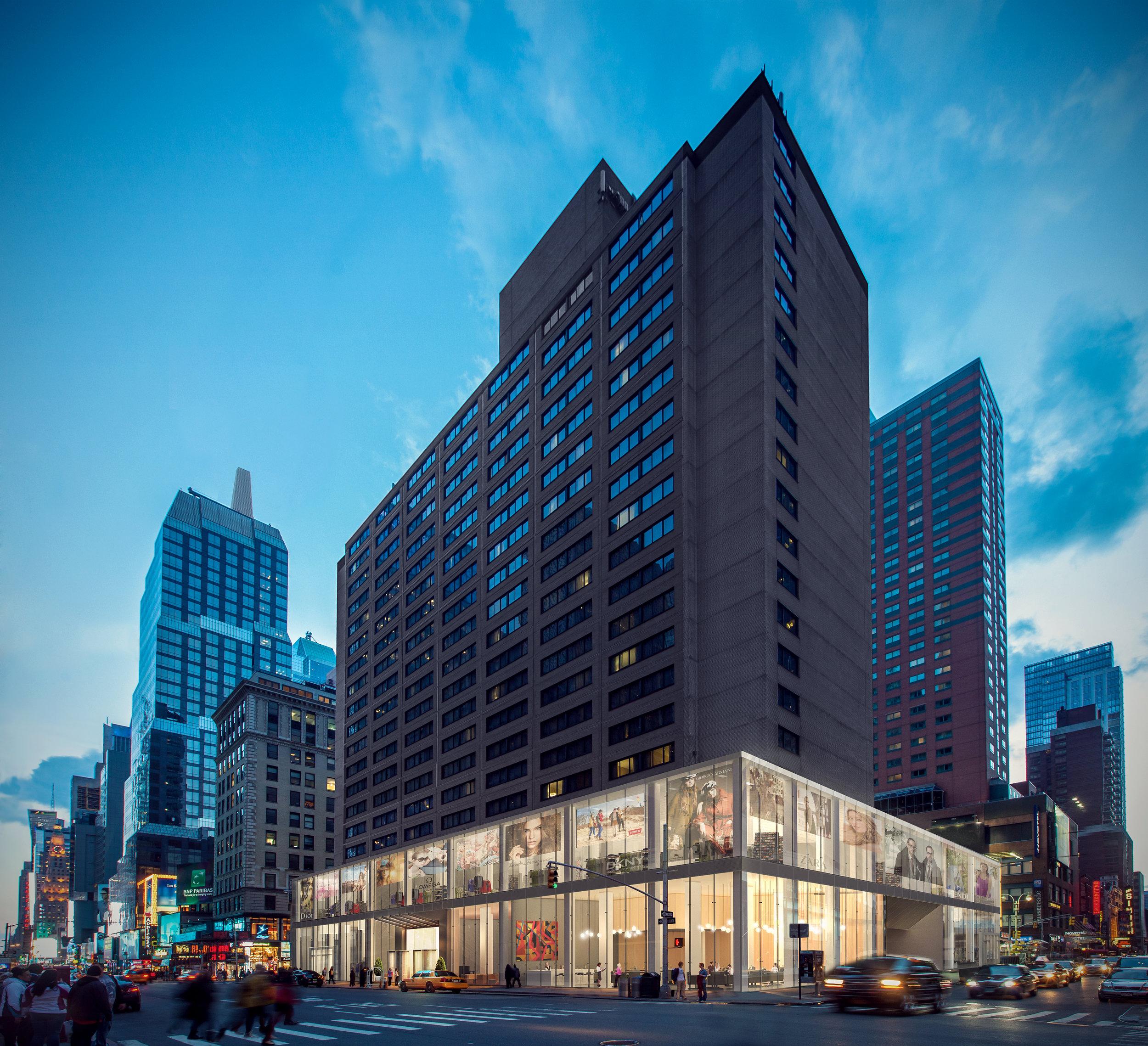 Hotel Renovation Podium Design Rendering