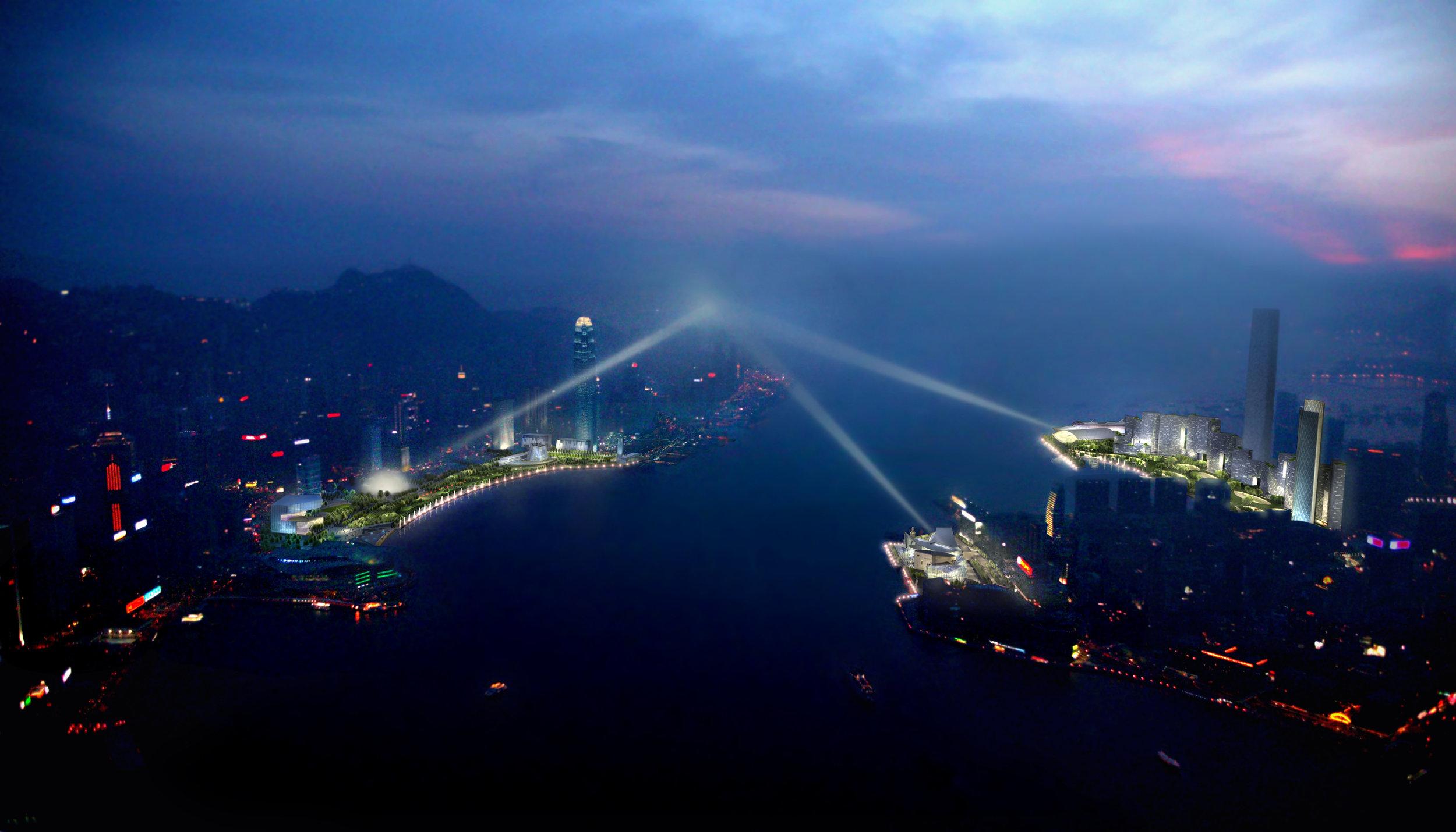 Hongkong Harborfront Lighting Proposal