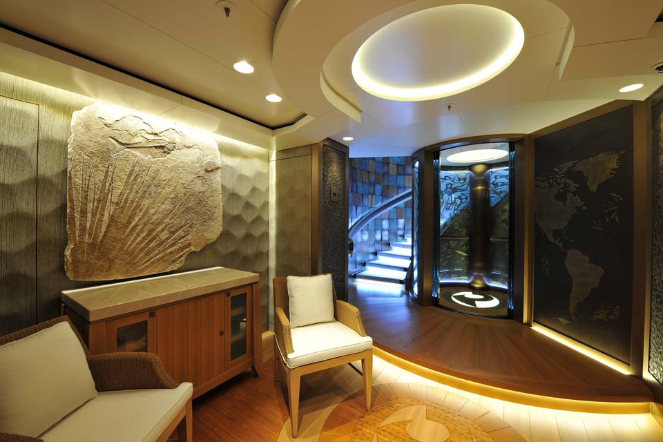 85M M/Y PACIFIC - Interior lobby design