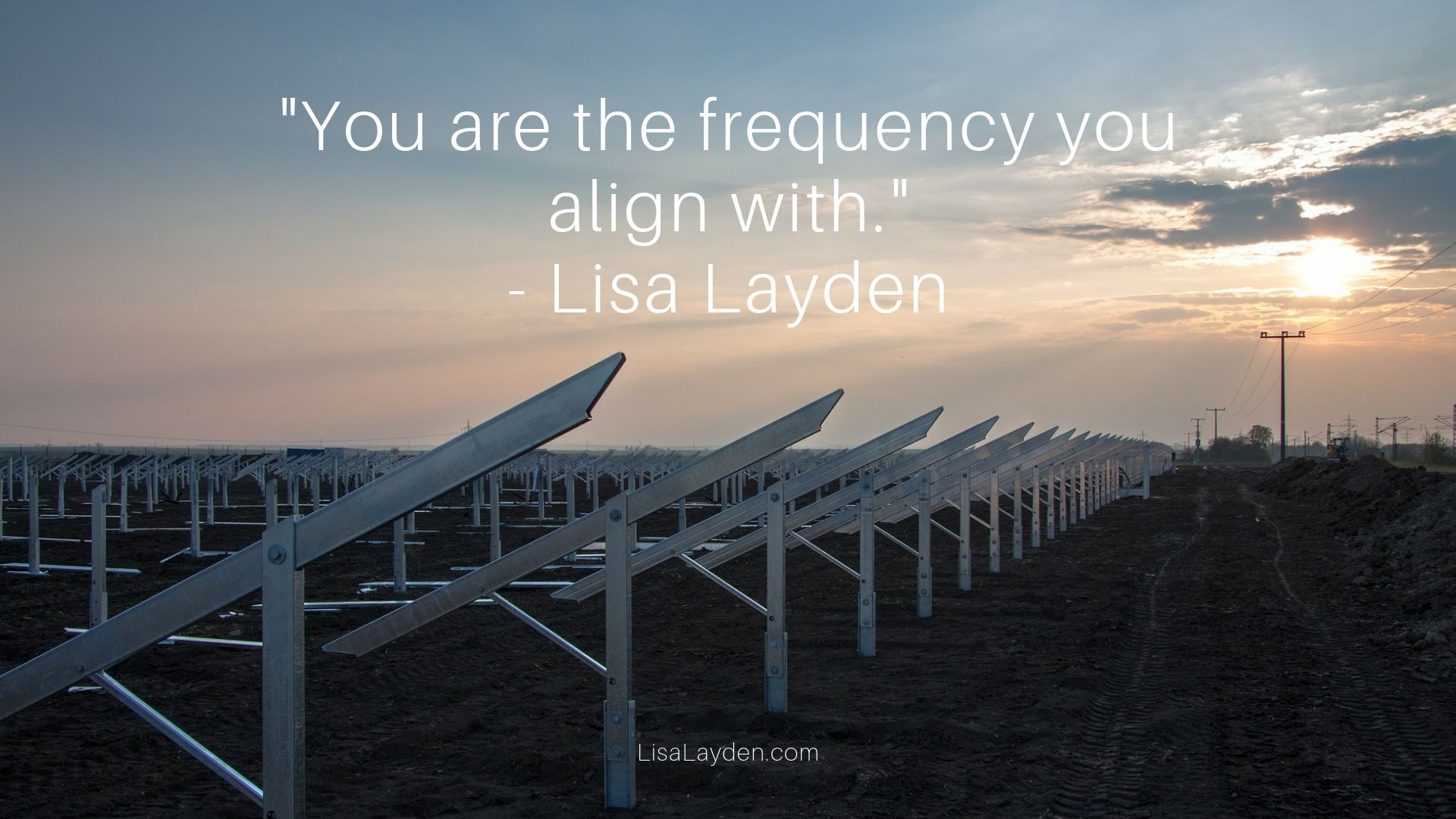 "Quote - ""You are the frequency you align with."" – Lisa Layden"