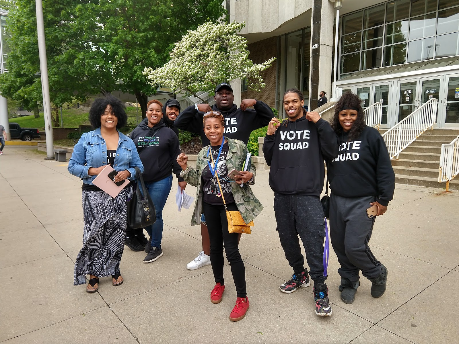 Image from the Black Mother's Day Bailout event in Akron