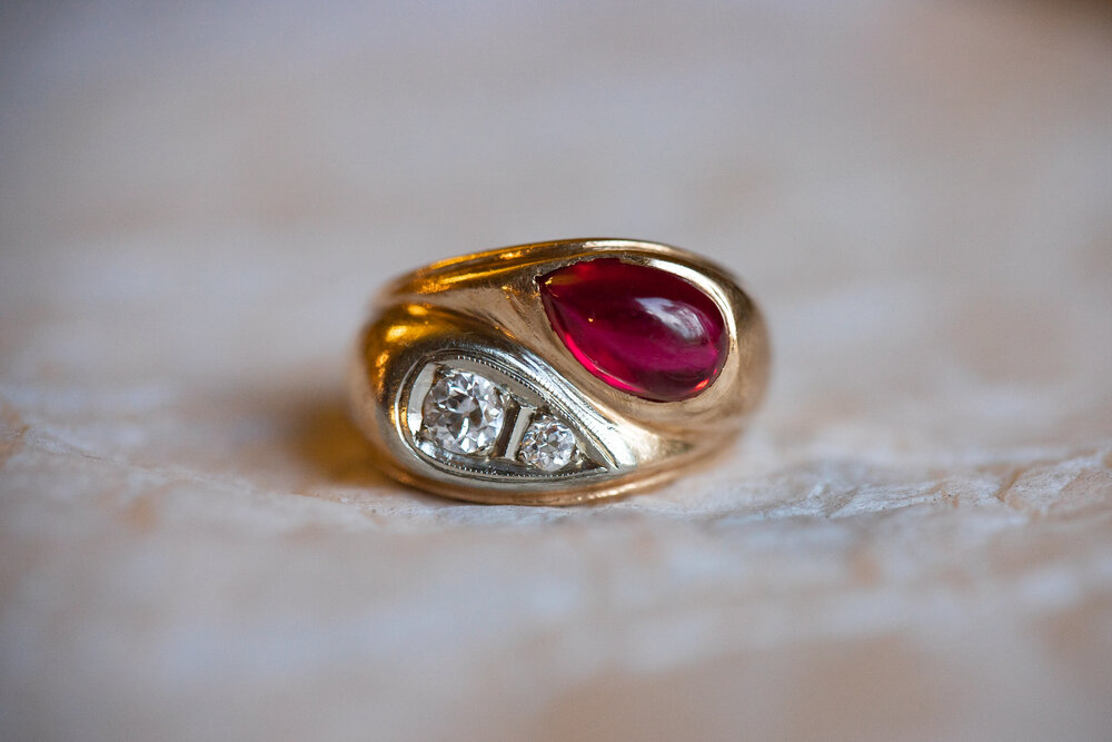 Any Size Egyptian Rose Wrapped Ring Egyptian Ring 18k Yellow Gold Egyptian Jewelry with gemstones coral
