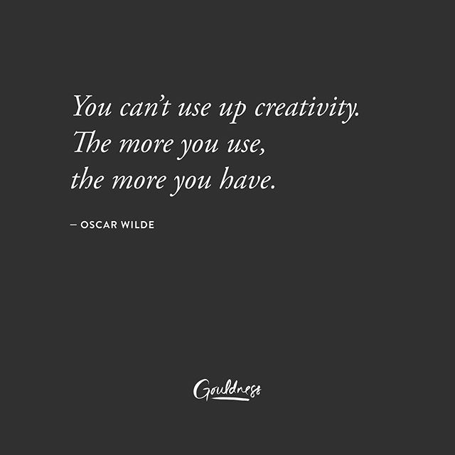 A little inspiration for all my creative friends out there! ~ 🖤 #gouldness