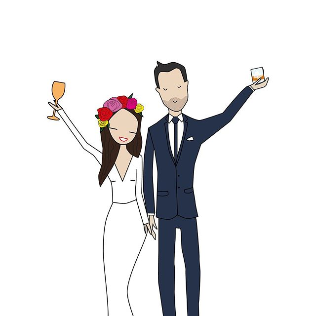 I love creating custom illustrations for weddings! Sam & Sophie's would have to be one of my all time FAVES. Never estimate custom design, when it's chic people do notice it and enjoy it 👌🏼 ~ 💯 #gouldness #weddingvibes