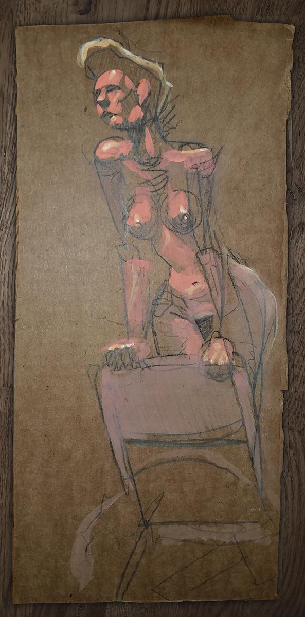 Deco - Acrylic on Cardboard