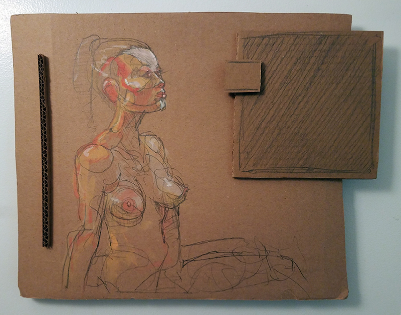 Obstacle 2 - Acrylic on Cardboard Construct