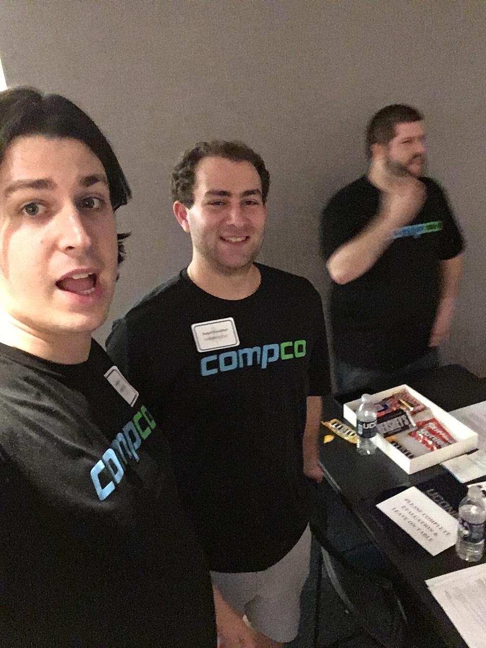 Patrick, Dan, and Nate at Compco's 2nd career fair
