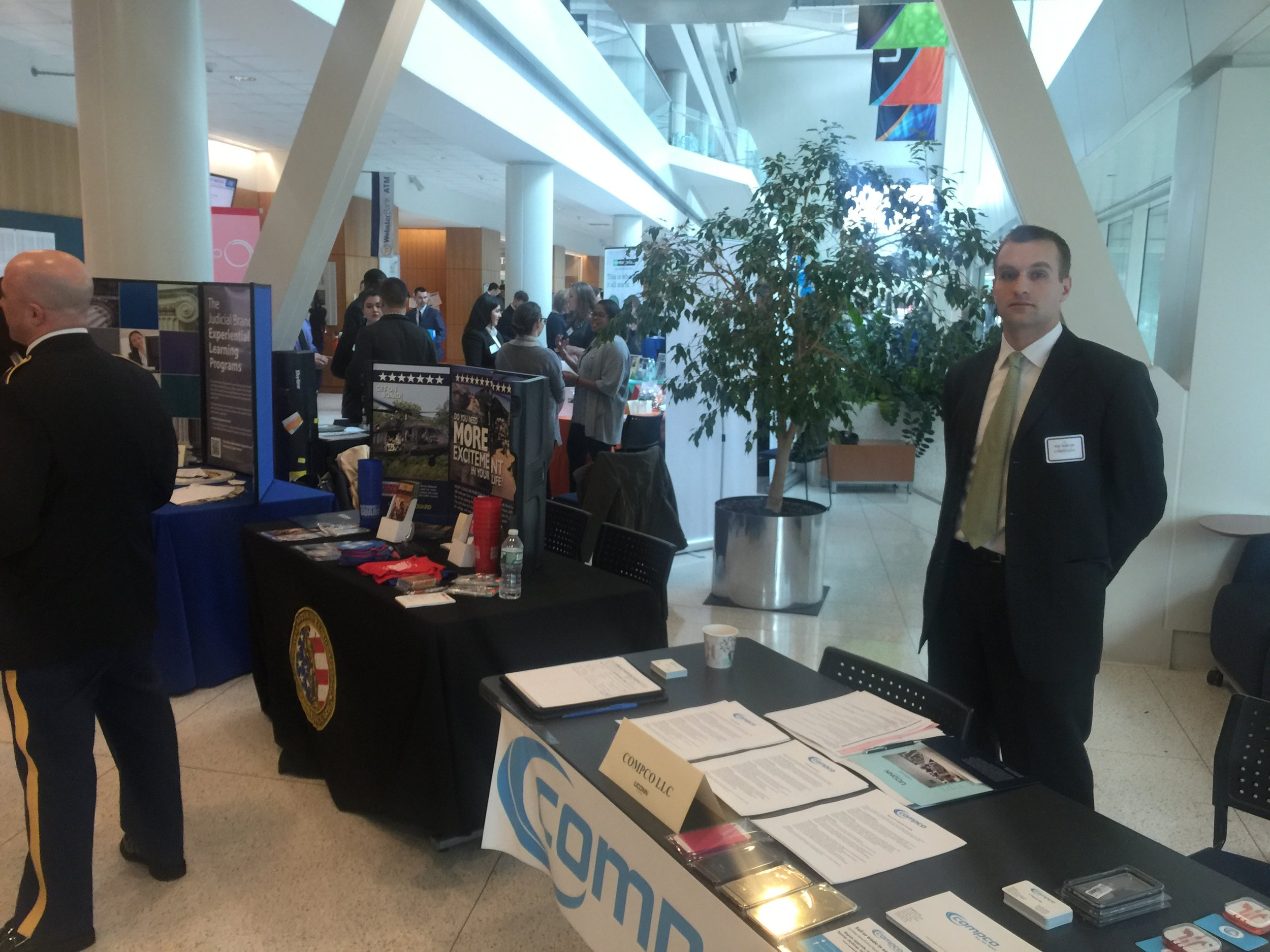 Compco's first career fair at UConn Stamford